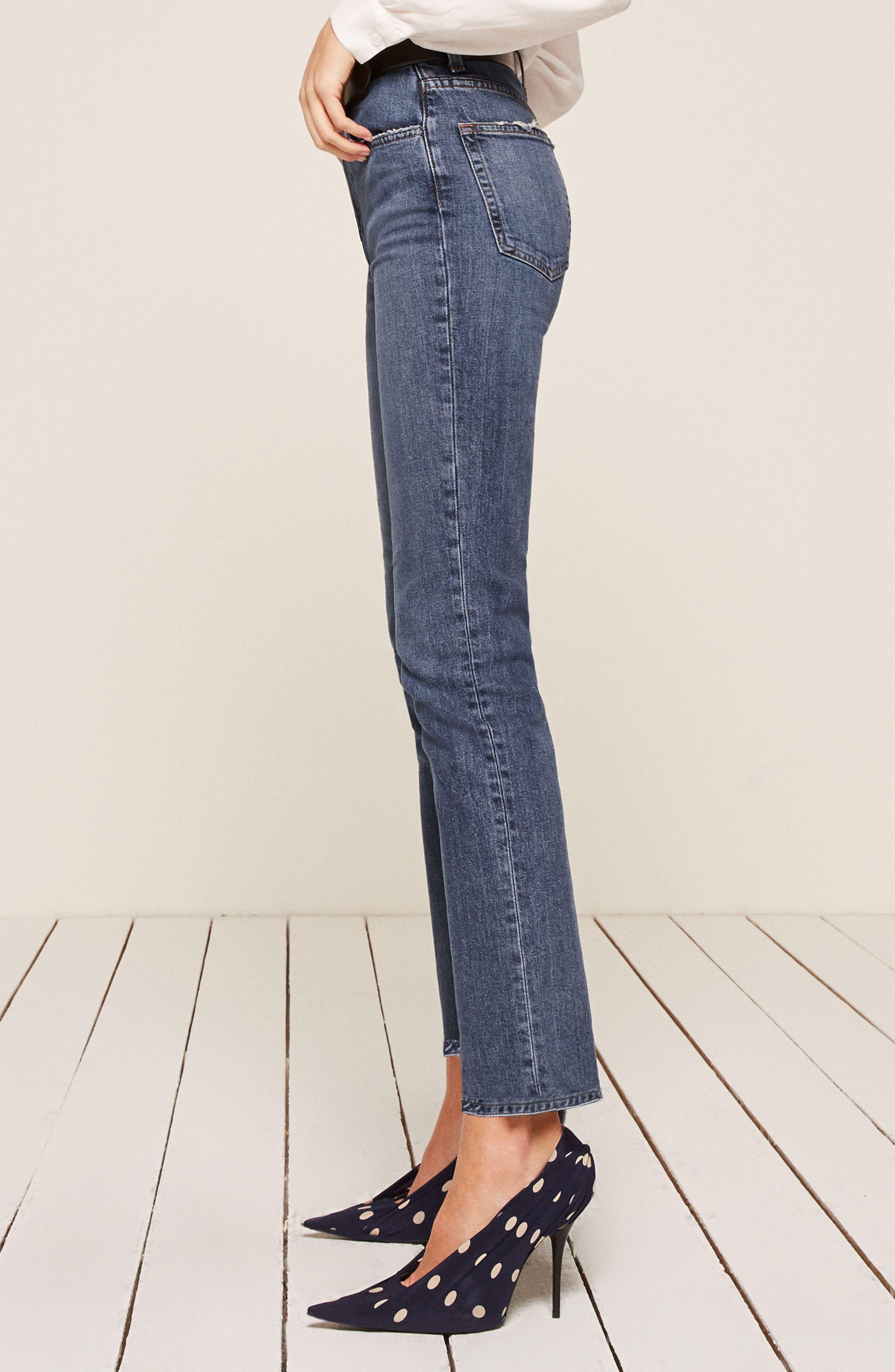 Liza High Waist Straight Leg Jeans,                             Alternate thumbnail 2, color,                             KASAI