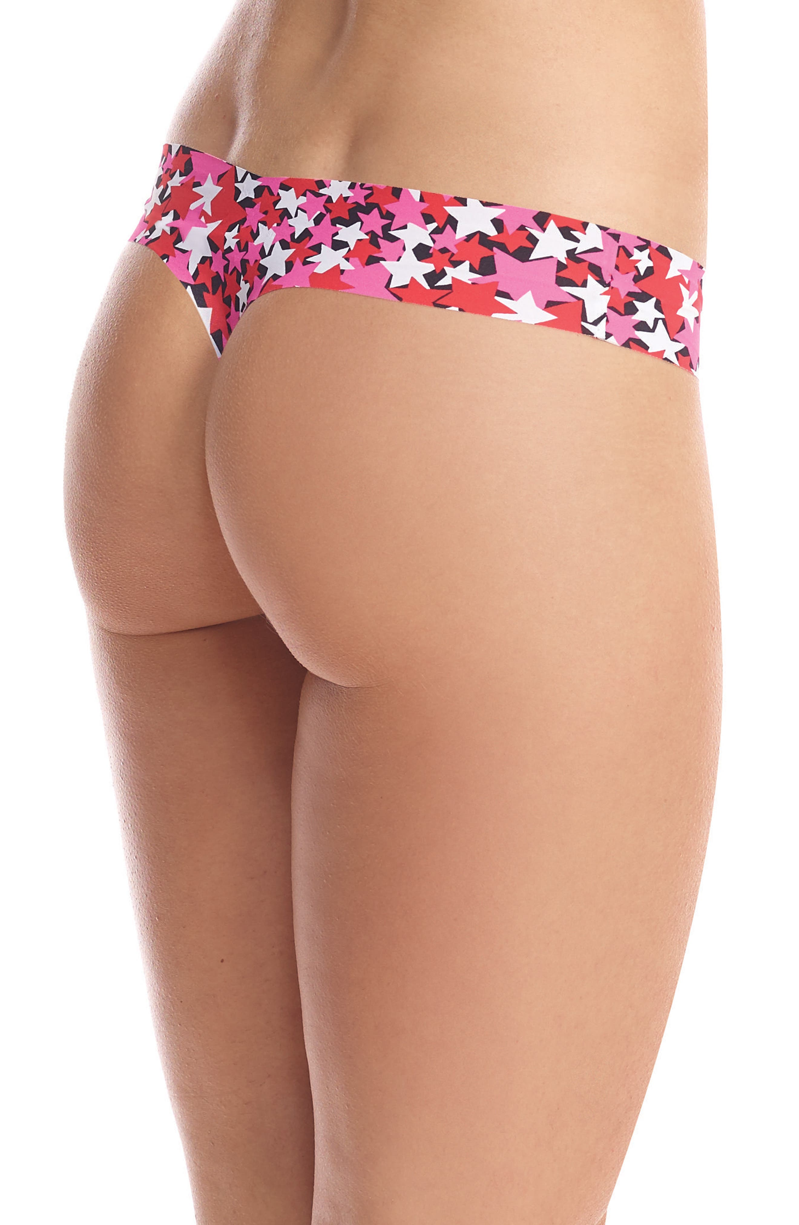 Print Microfiber Thong,                             Alternate thumbnail 117, color,