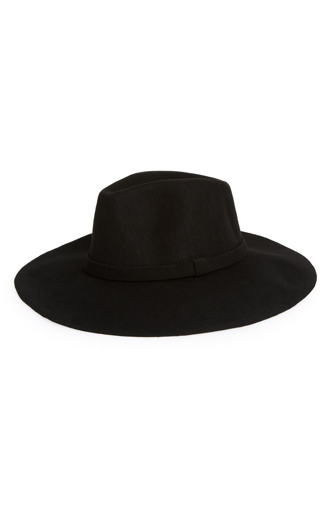 Wool Felt Fedora,                             Main thumbnail 1, color,                             001