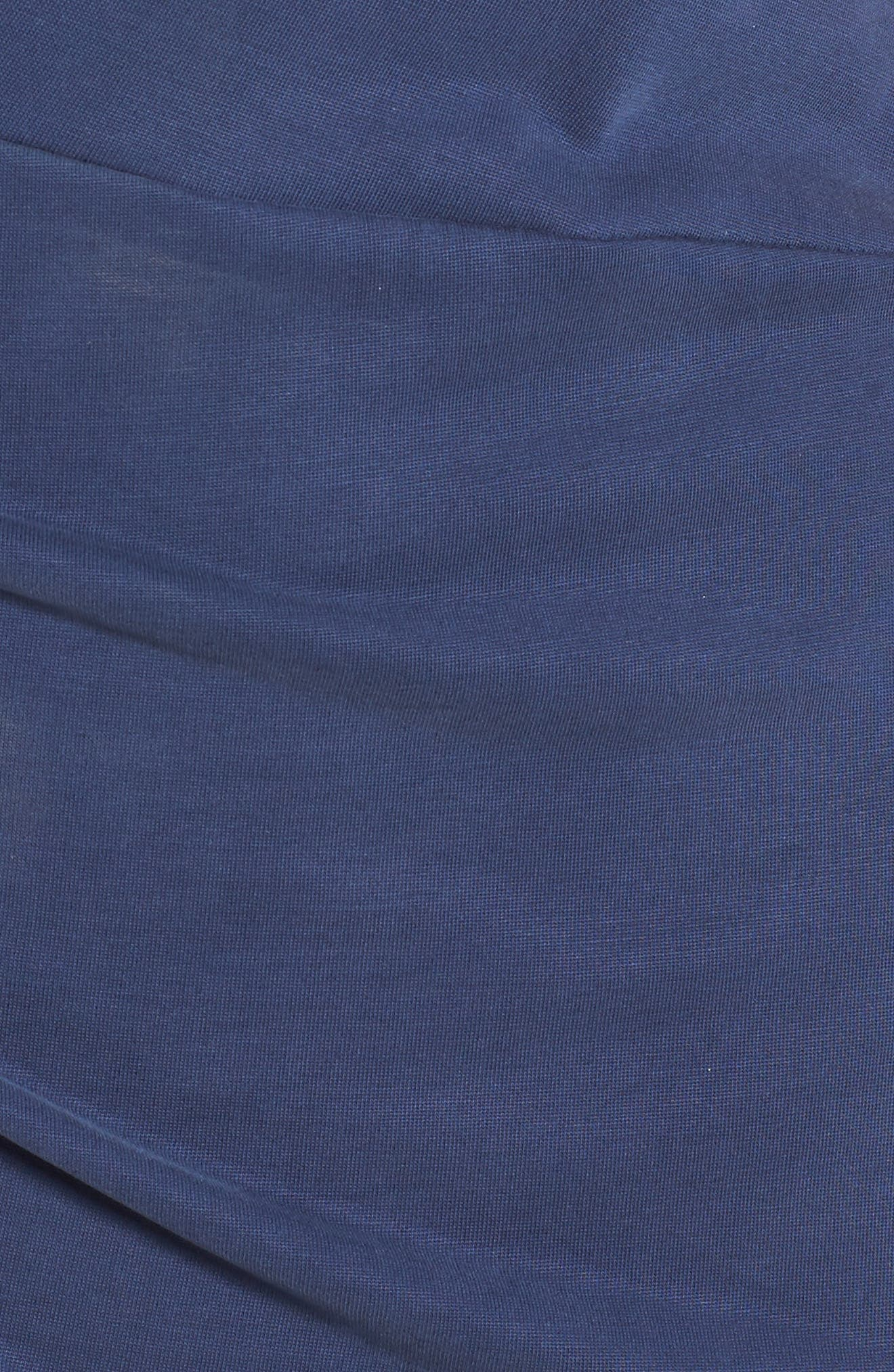 Pleated Body-Con Dress,                             Alternate thumbnail 6, color,