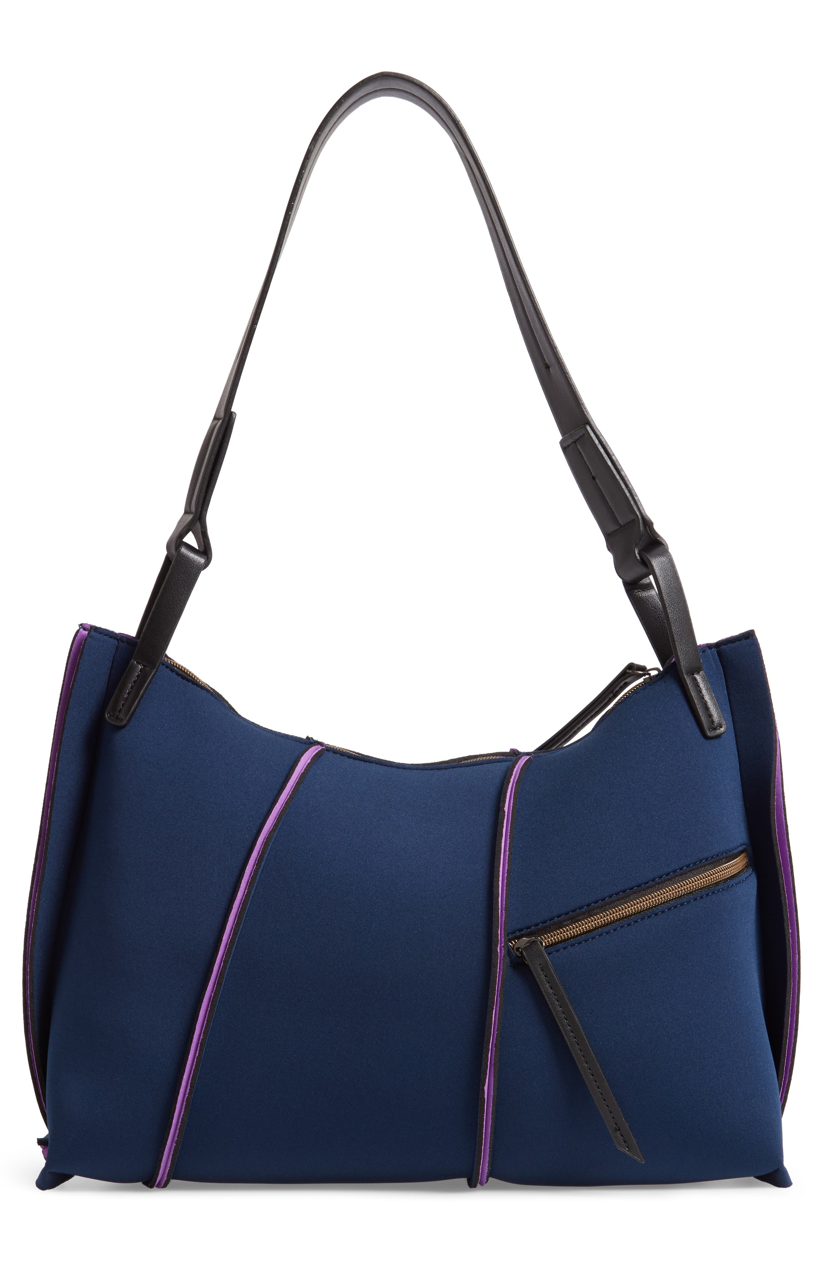 Neoprene Hobo,                             Alternate thumbnail 3, color,                             NAVY