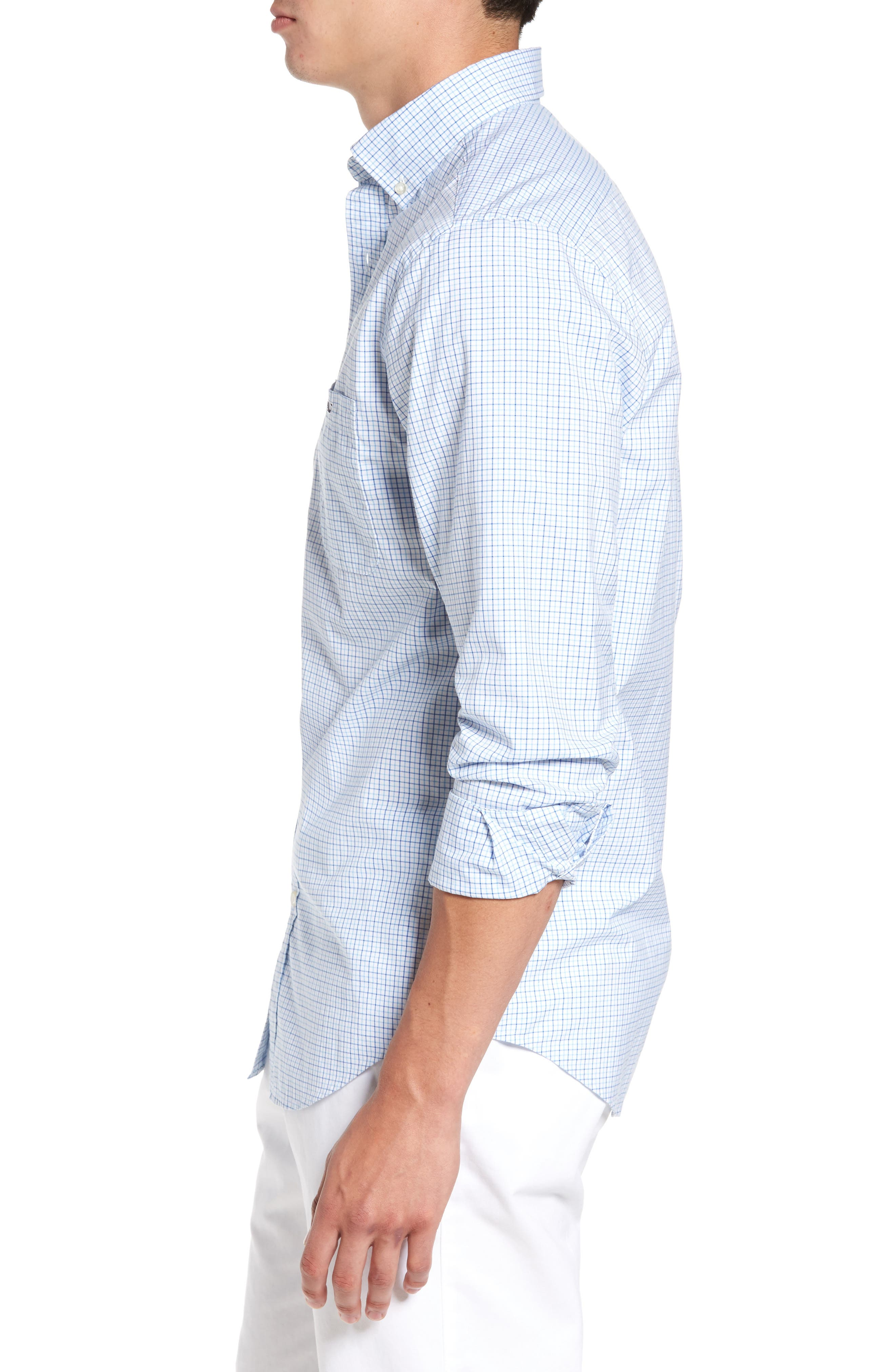 Twin Pond Classic Fit Tattersall Check Sport Shirt,                             Alternate thumbnail 3, color,                             484