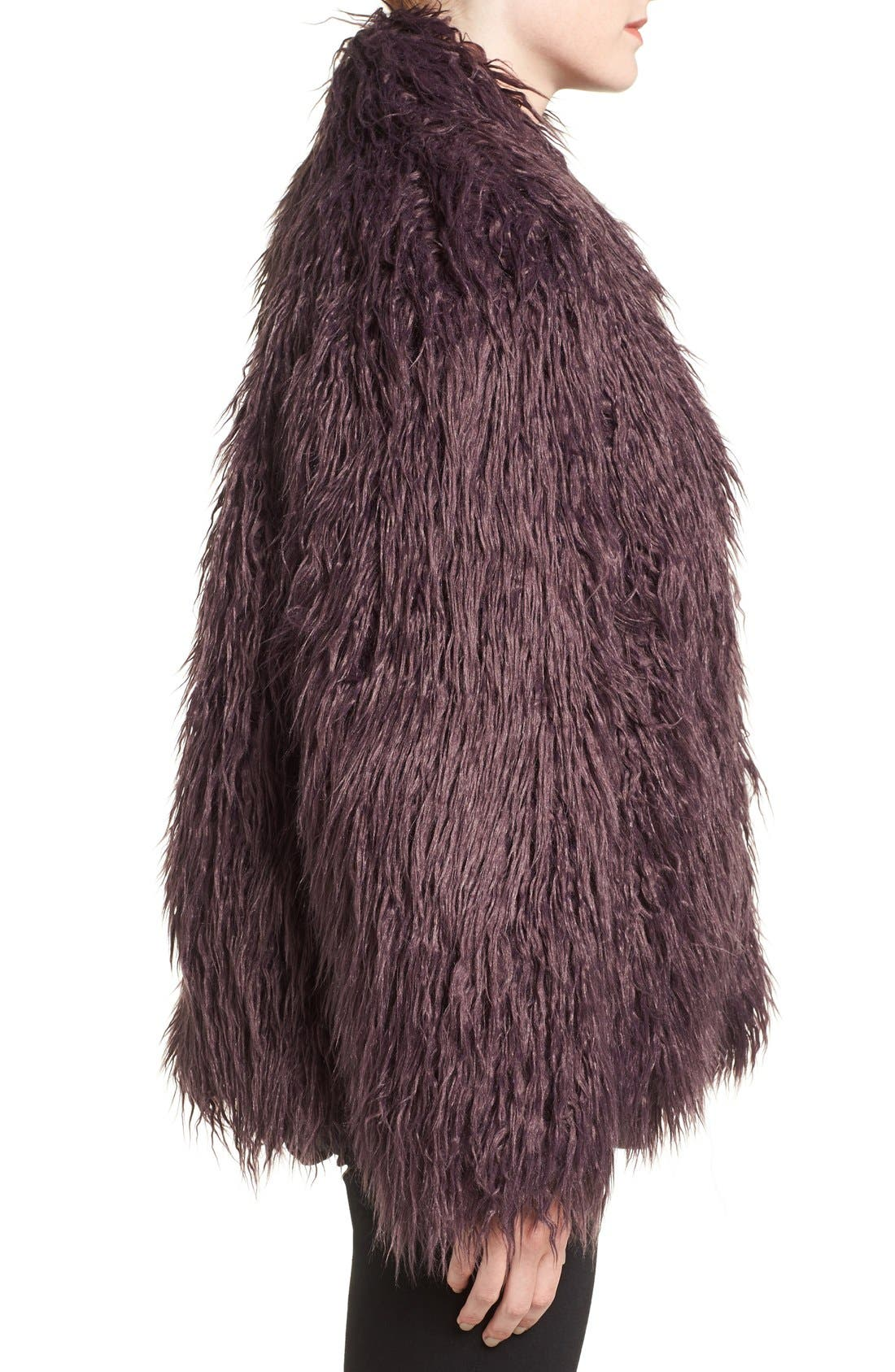 Shaggy Faux Fur Jacket,                             Alternate thumbnail 10, color,