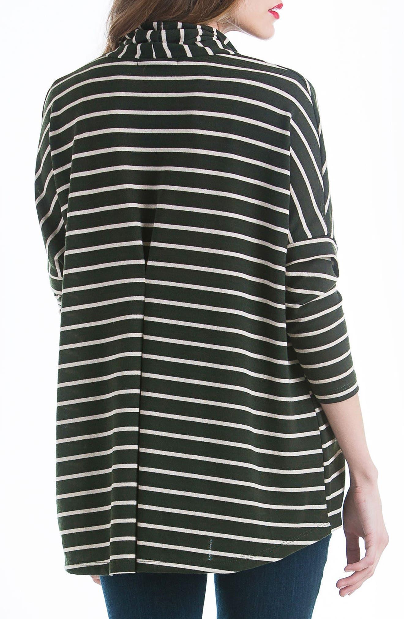 Stripe Cowl Neck Maternity Sweater,                             Alternate thumbnail 2, color,                             300