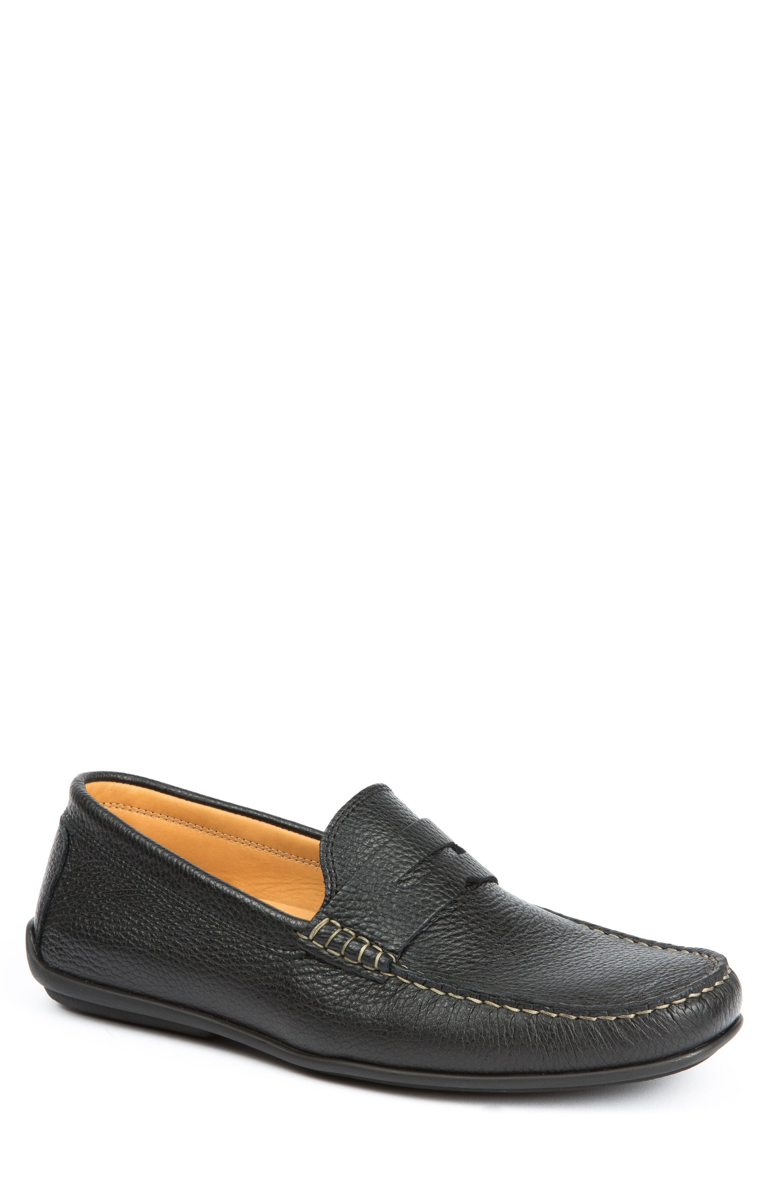 Hudsons Driving Shoe,                         Main,                         color, BLACK GRAIN