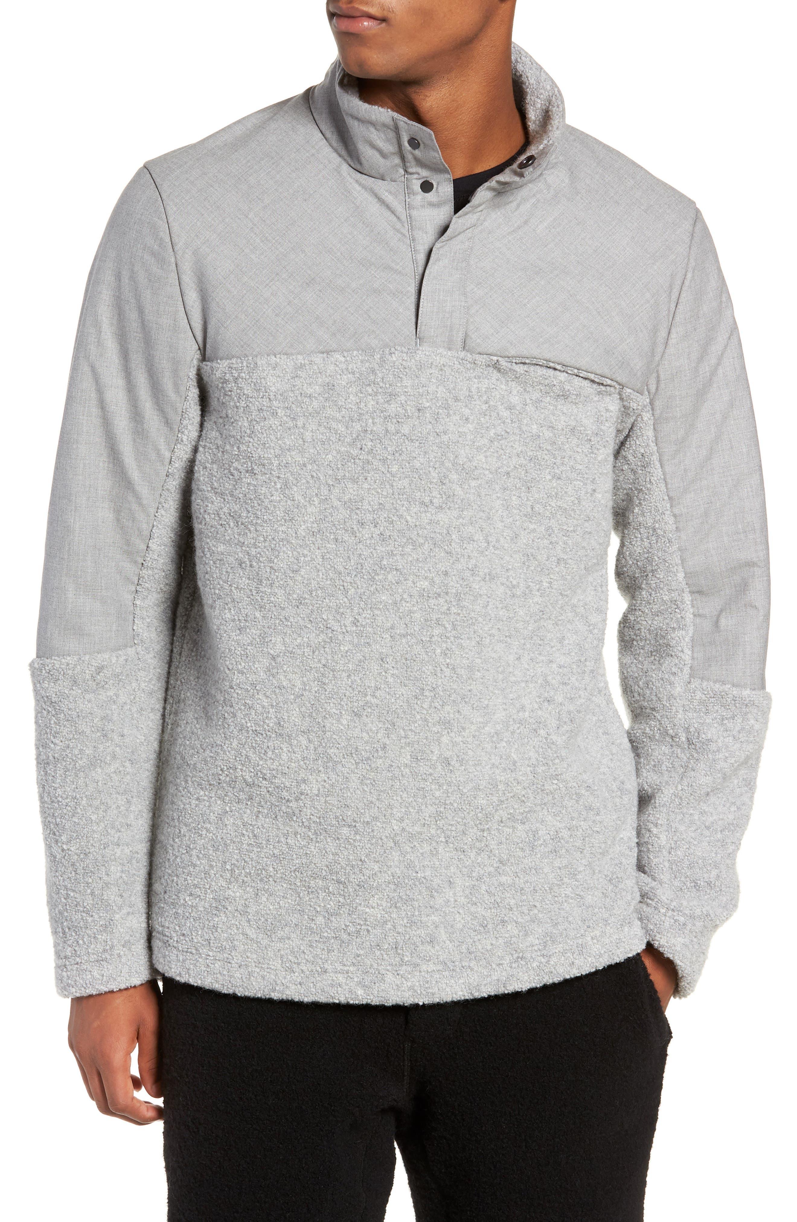 Tactical Fleece Pullover,                         Main,                         color, HEATHER GREY