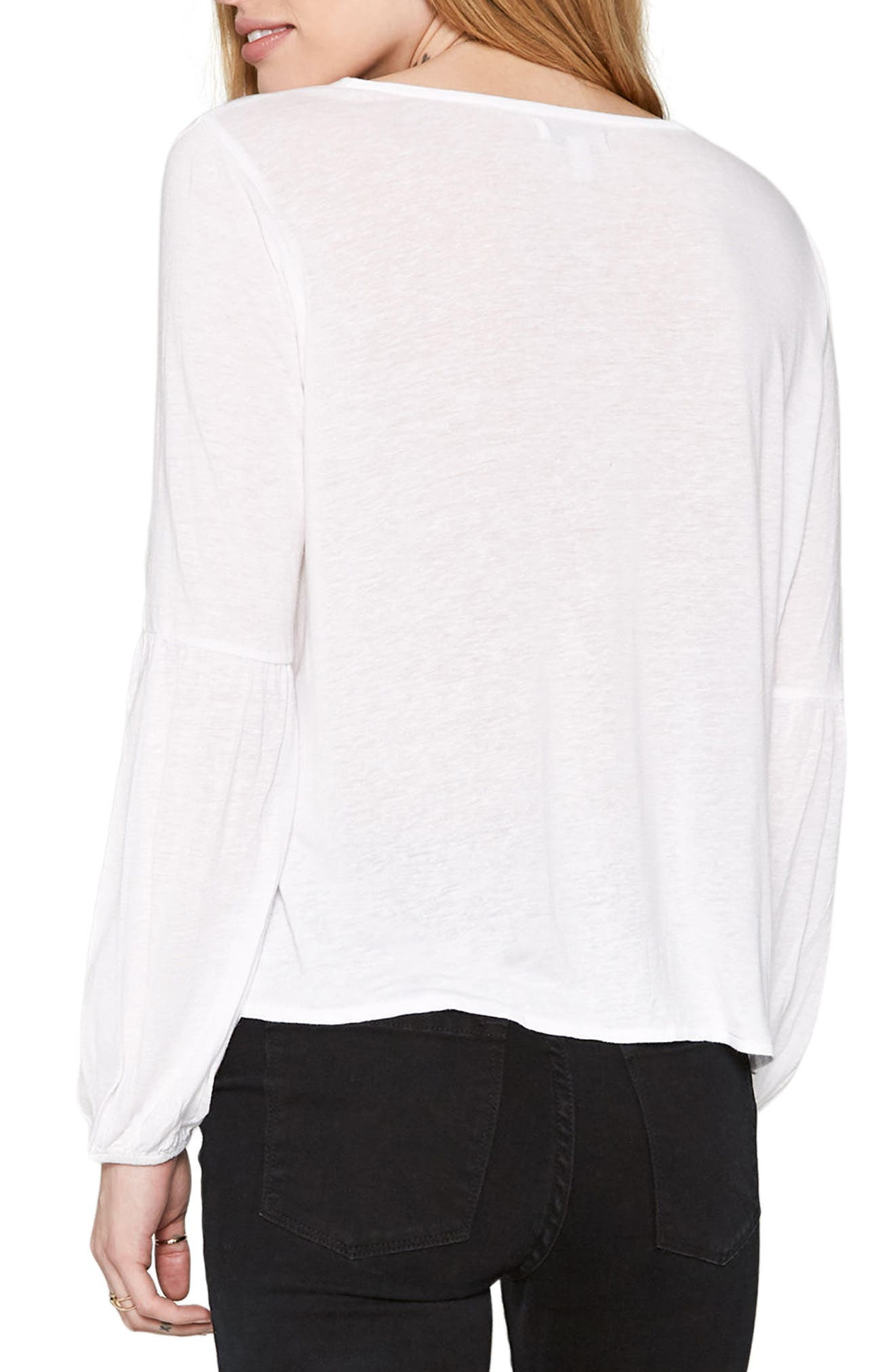Spencer Lace-Up Top,                             Alternate thumbnail 4, color,