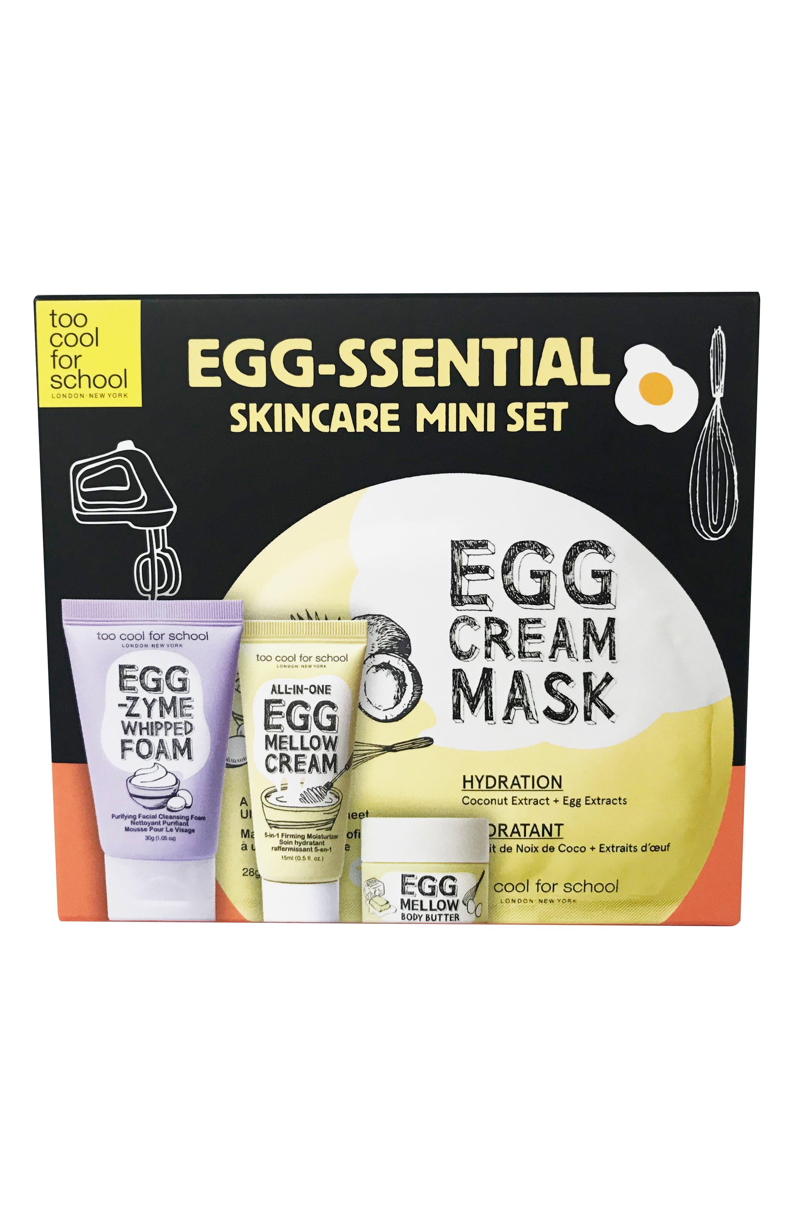 Egg-Ssential Skin Care Mini Set,                             Main thumbnail 1, color,                             000