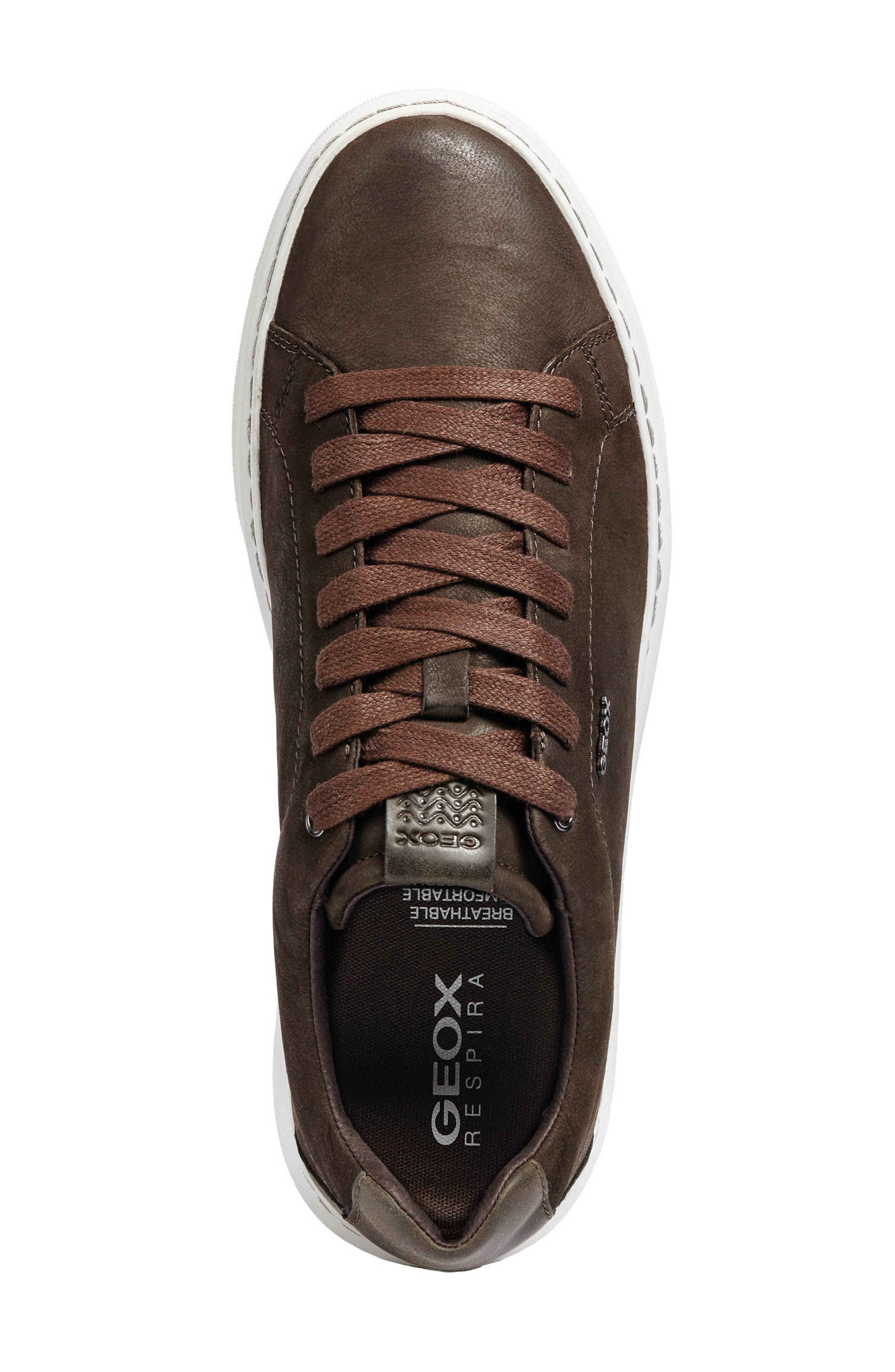 Deiven 5 Low Top Sneaker,                             Alternate thumbnail 5, color,                             DARK COFFEE LEATHER