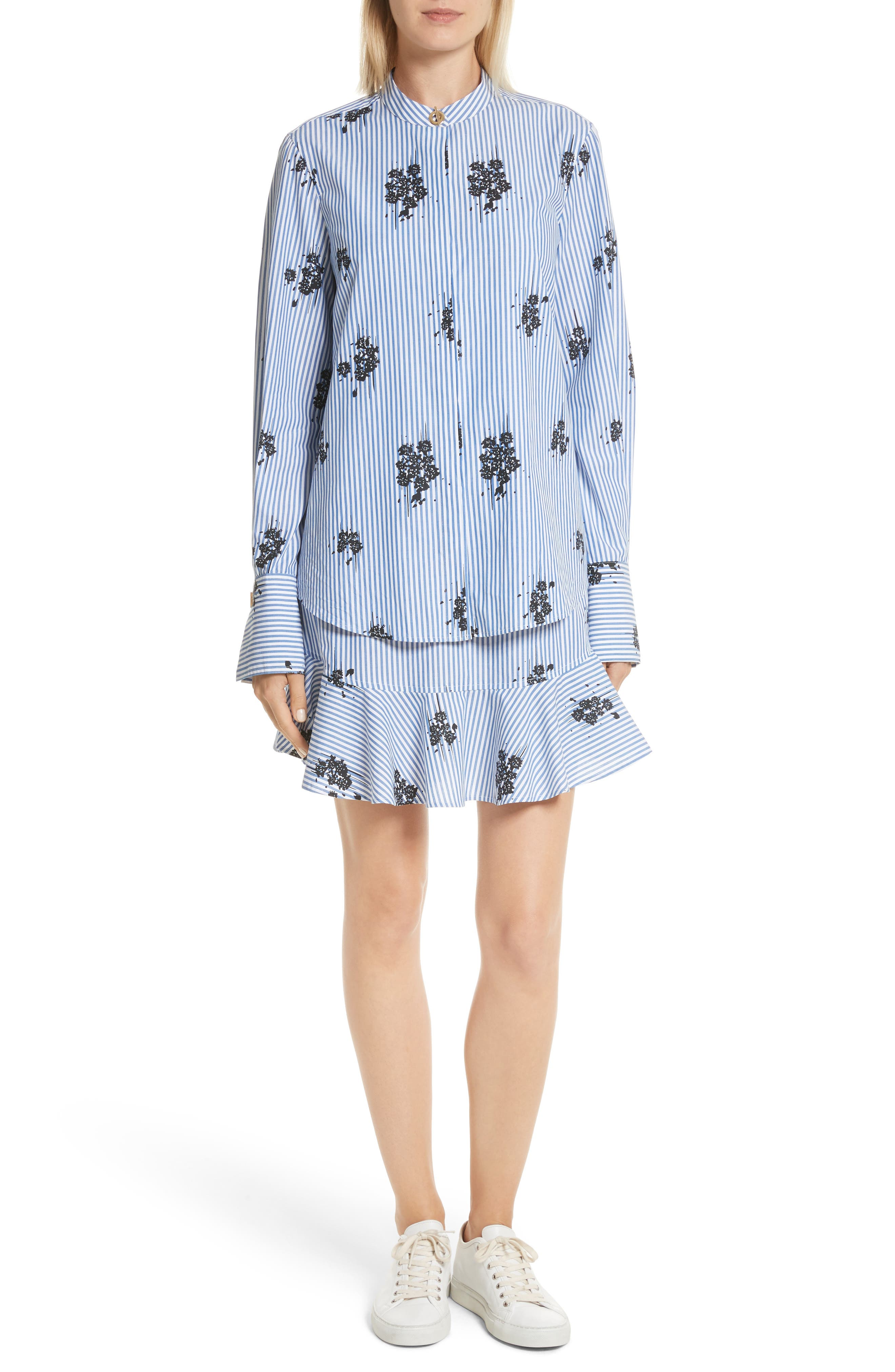 2-in-1 Ruffled Shirtdress,                         Main,                         color, 420