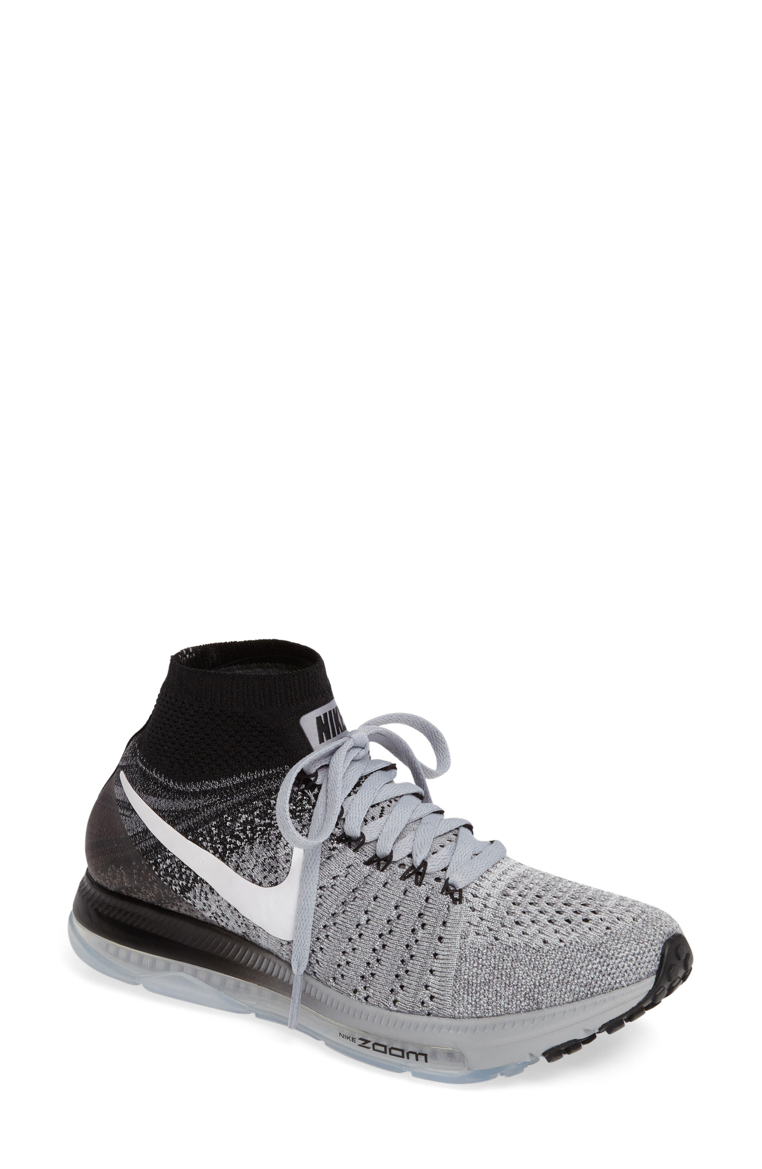 Air Zoom Pegasus All Out Flyknit Running Shoe,                             Main thumbnail 1, color,                             021