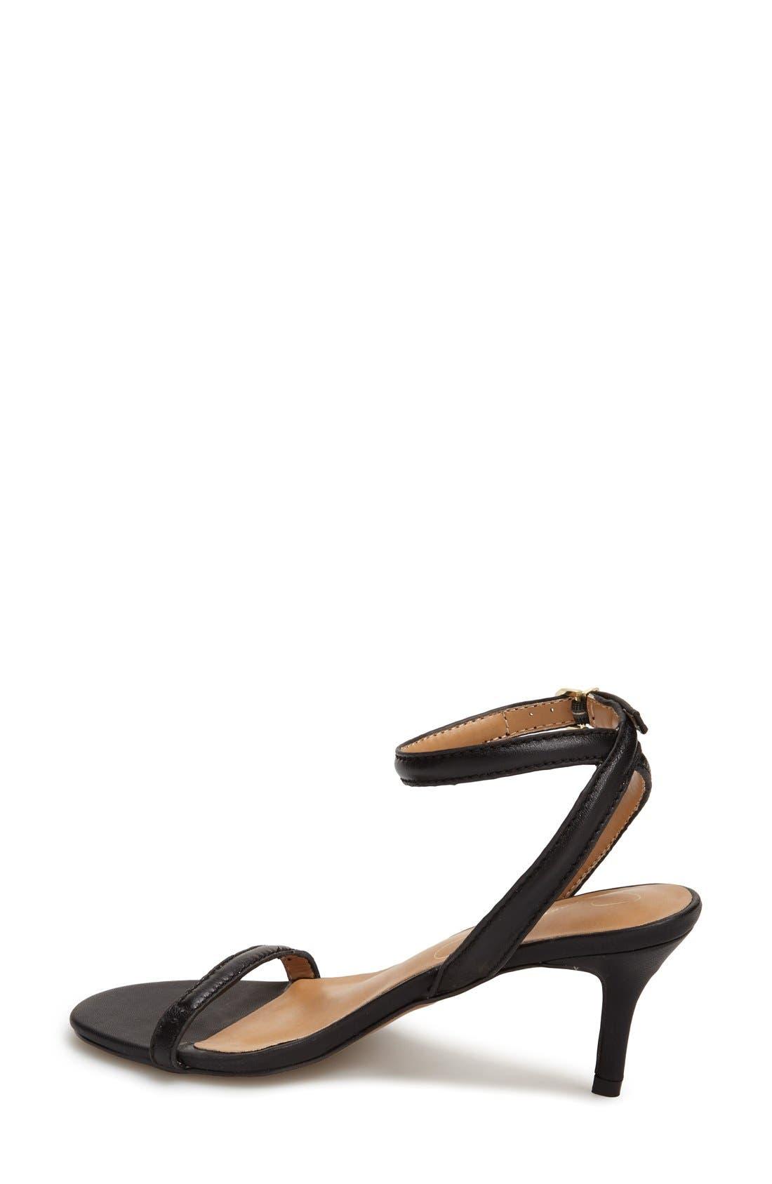 REPORT 'Signature Neely' Ankle Strap Sandal,                             Alternate thumbnail 4, color,                             001