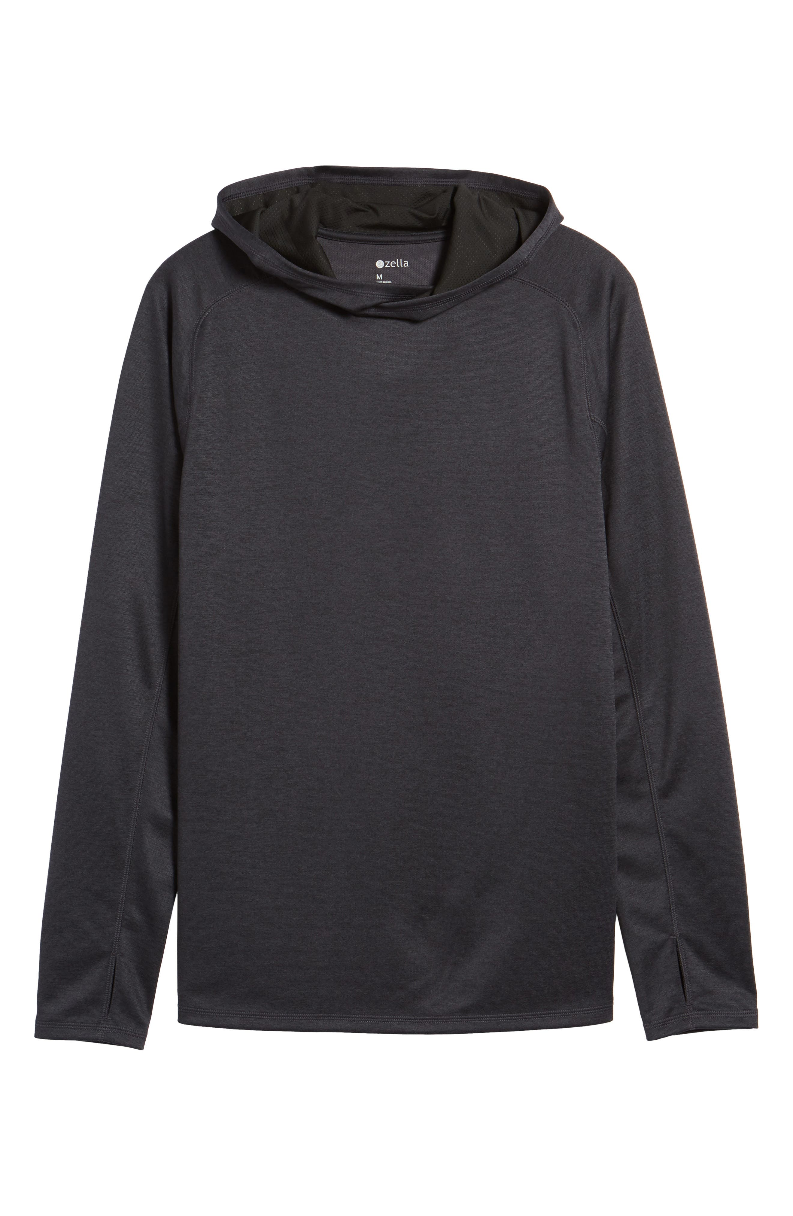 Lightweight Pullover Hoodie,                             Alternate thumbnail 5, color,                             001