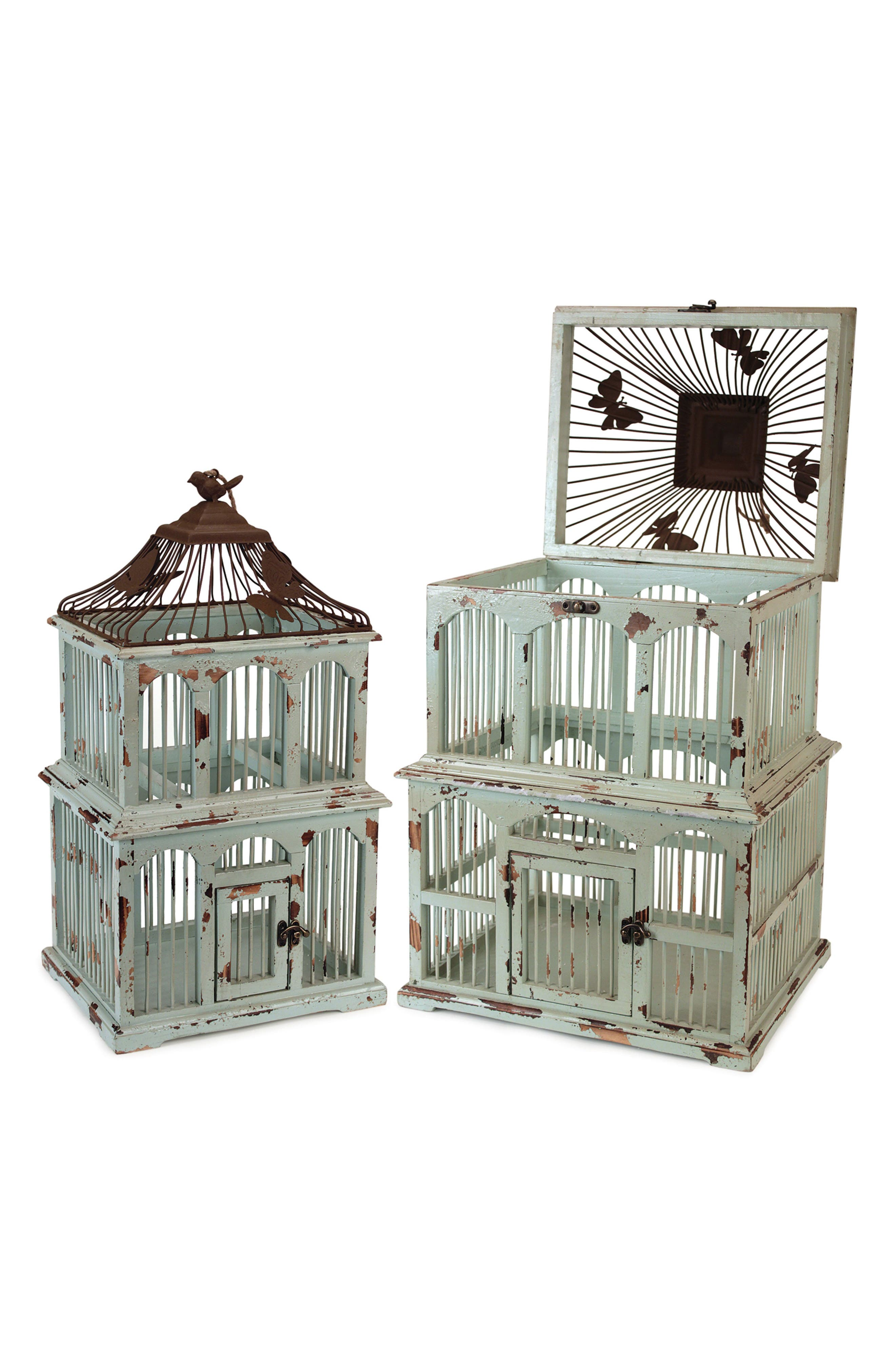 Decorative Bird Cage,                             Main thumbnail 1, color,                             BLUE