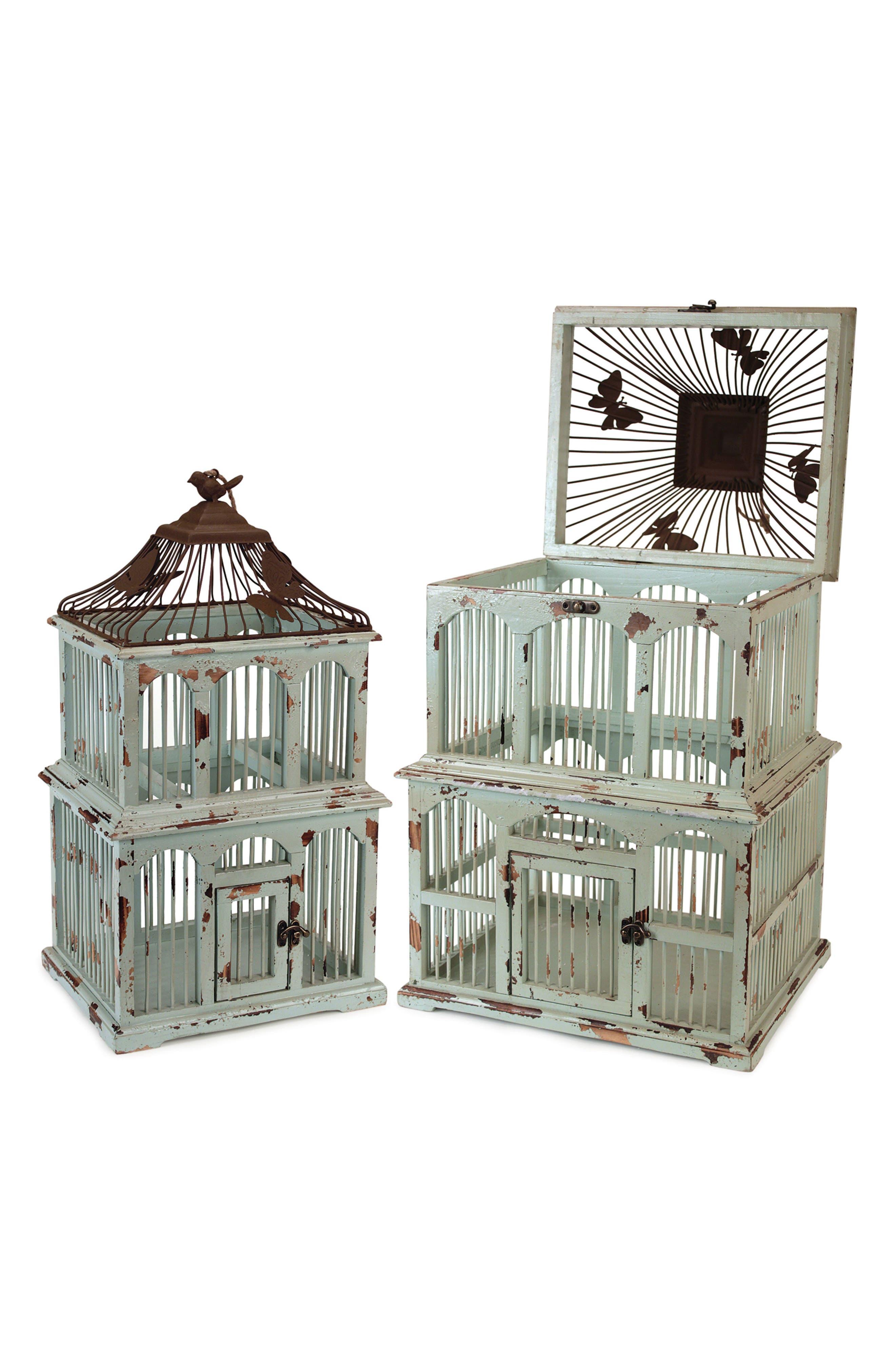 Decorative Bird Cage,                         Main,                         color, BLUE