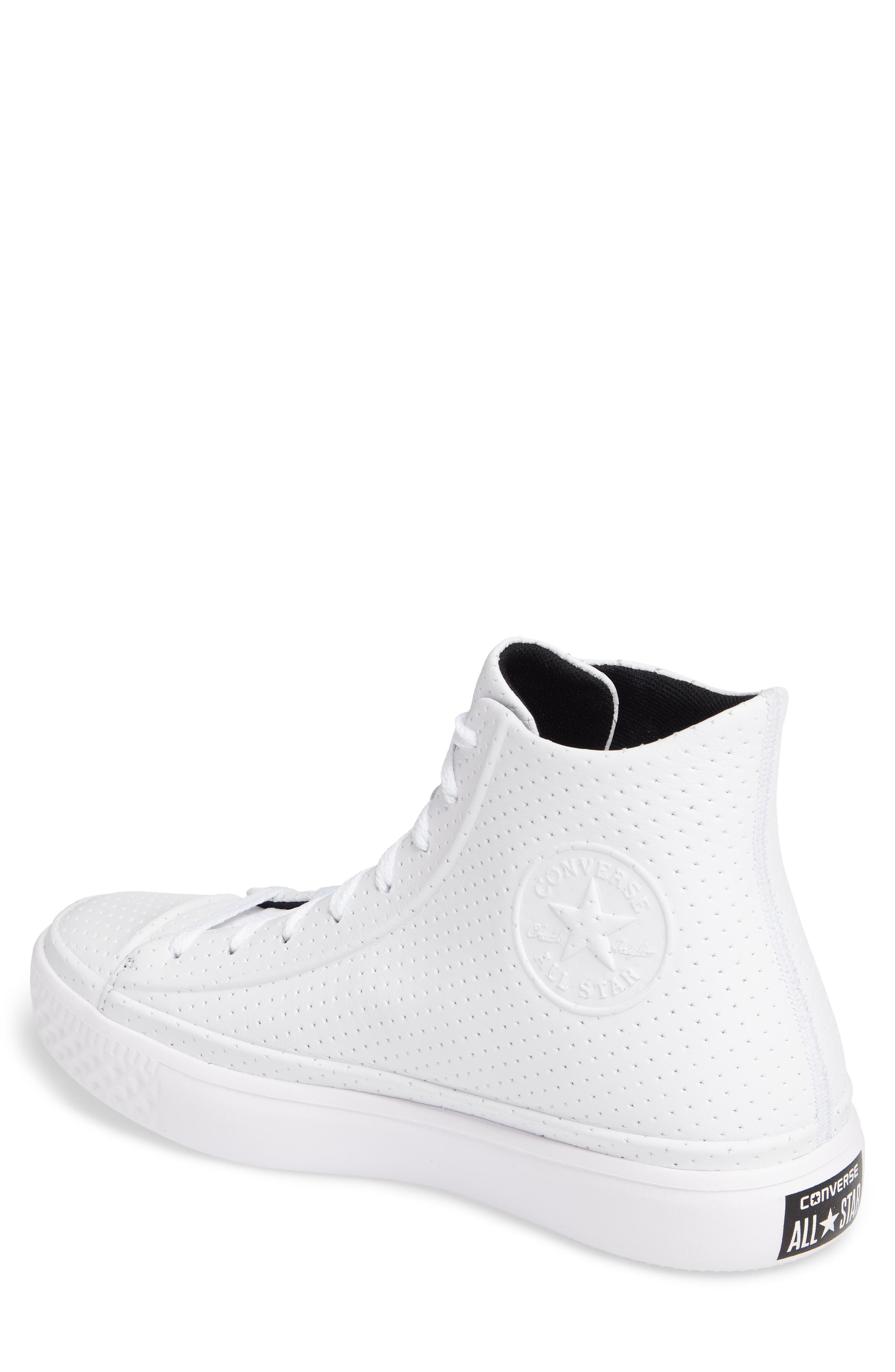 Chuck Taylor<sup>®</sup> All-Star<sup>®</sup> Leather Sneaker,                             Alternate thumbnail 2, color,                             100