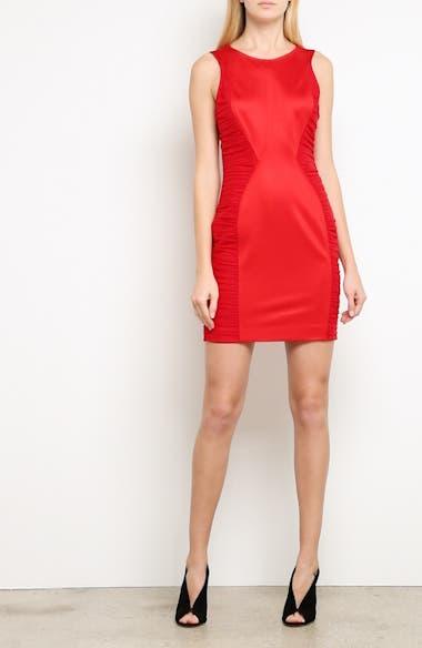 Ruched Piqué Sheath Dress, video thumbnail