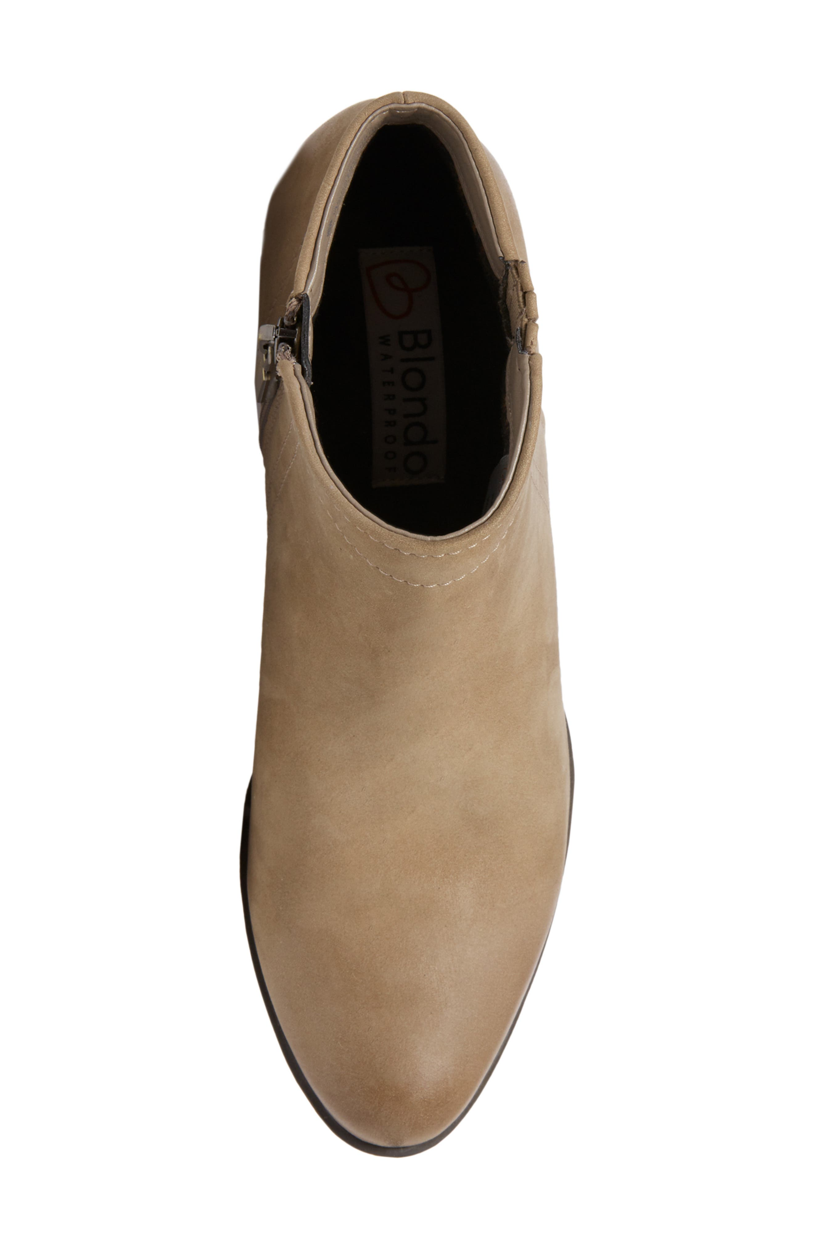 'Valli' Waterproof  Bootie,                             Alternate thumbnail 5, color,                             MUSHROOM NUBUCK