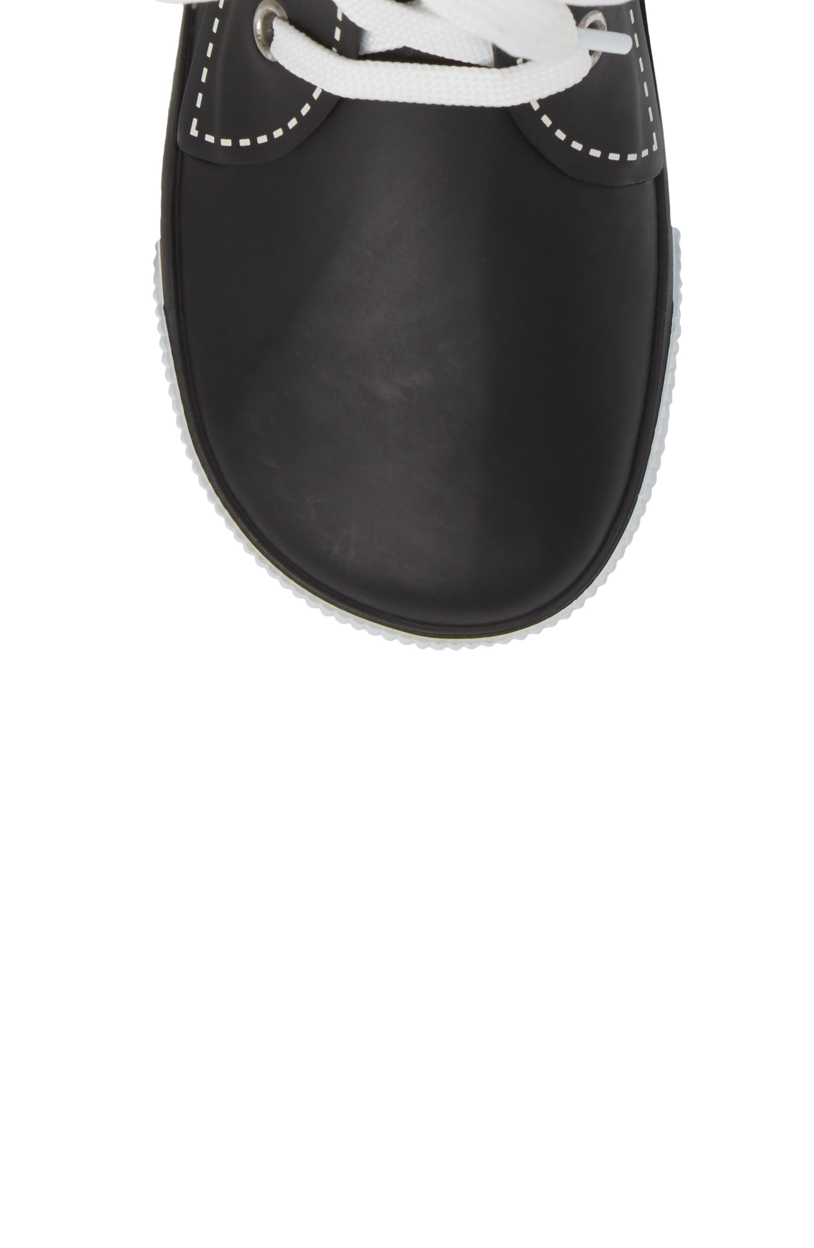 Waterproof Sneaker Rain Boot,                             Alternate thumbnail 5, color,                             001