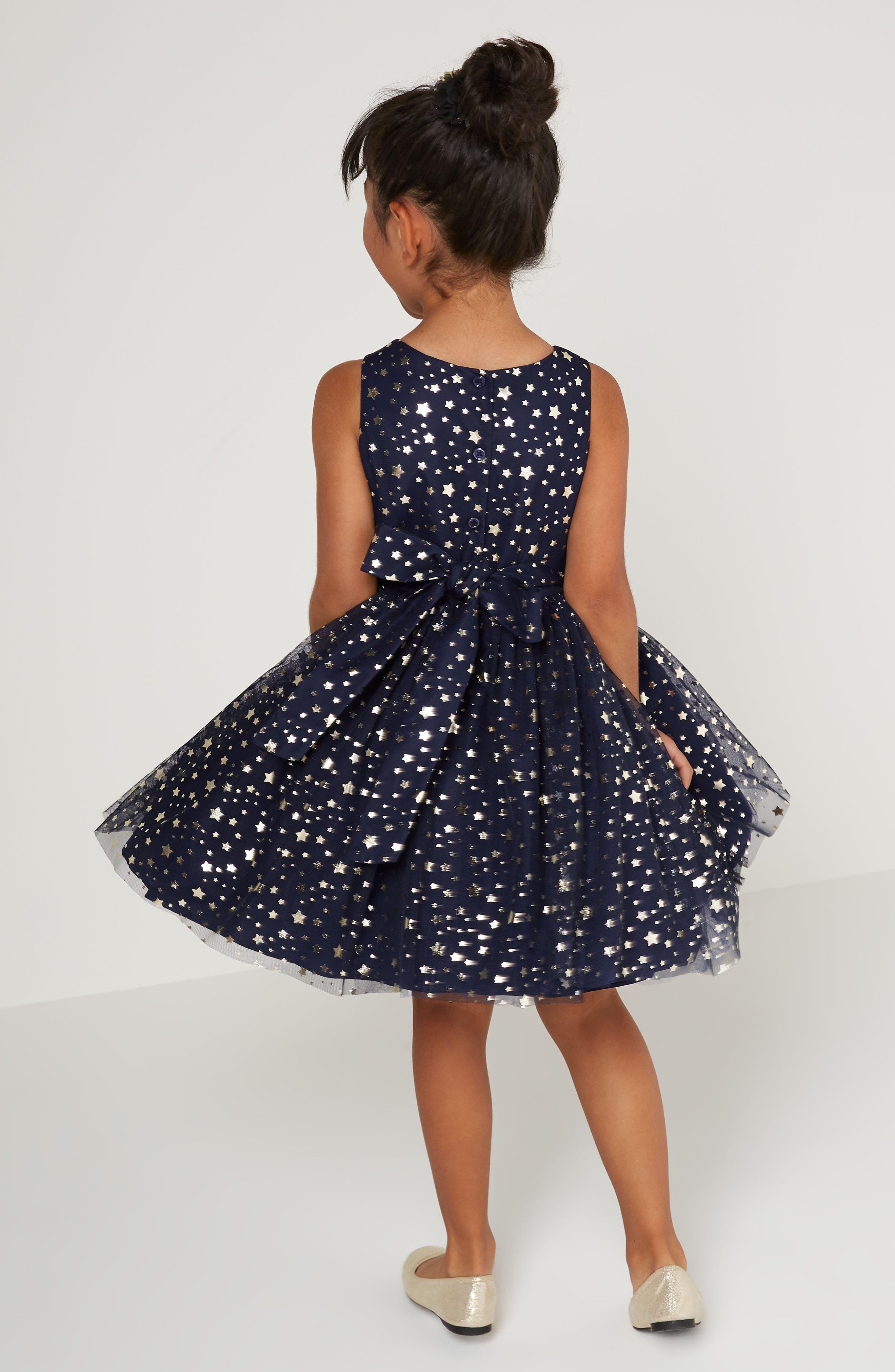 Metallic Stars Party Dress,                             Alternate thumbnail 4, color,                             450