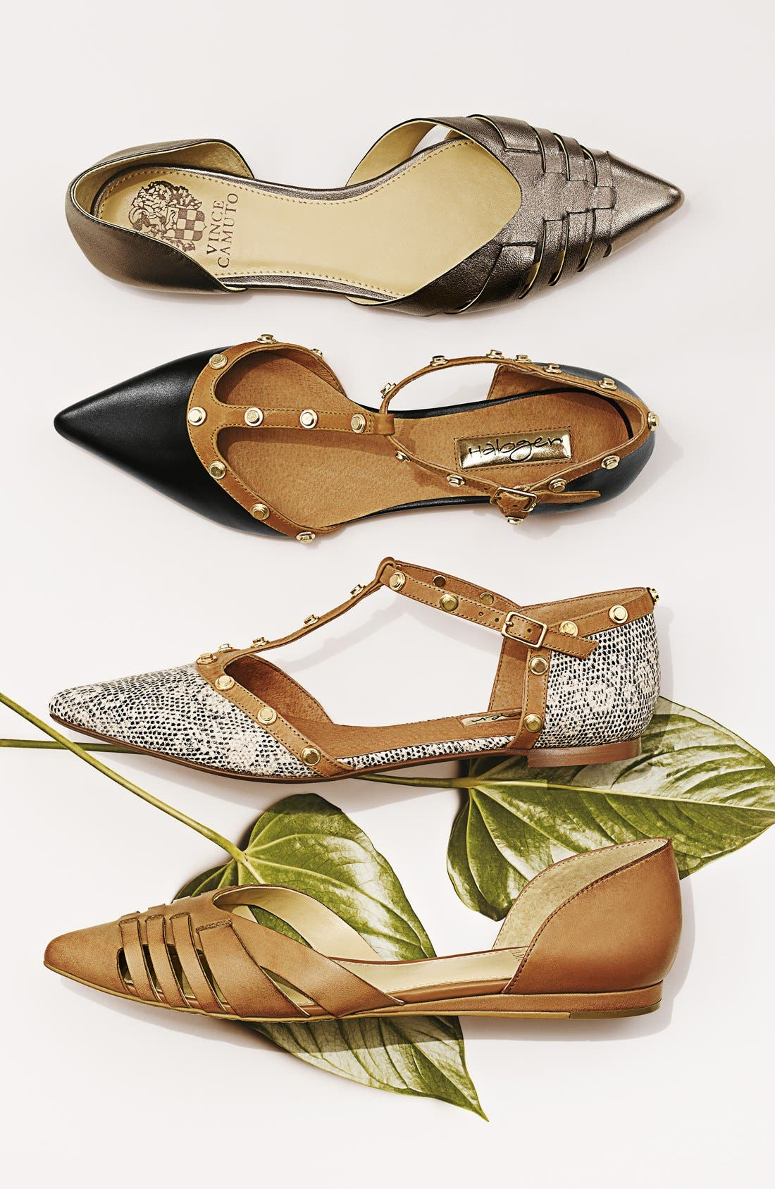 'Hallie' Woven Leather d'Orsay Flat,                             Alternate thumbnail 5, color,                             001