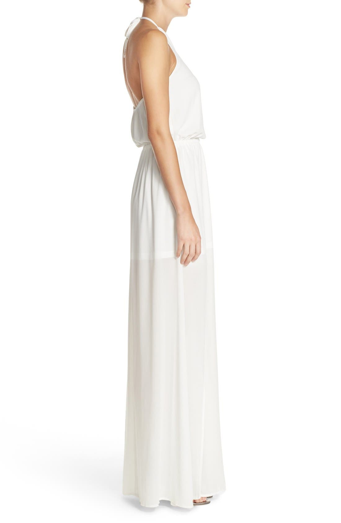 Heather Chiffon Halter Gown,                             Alternate thumbnail 40, color,