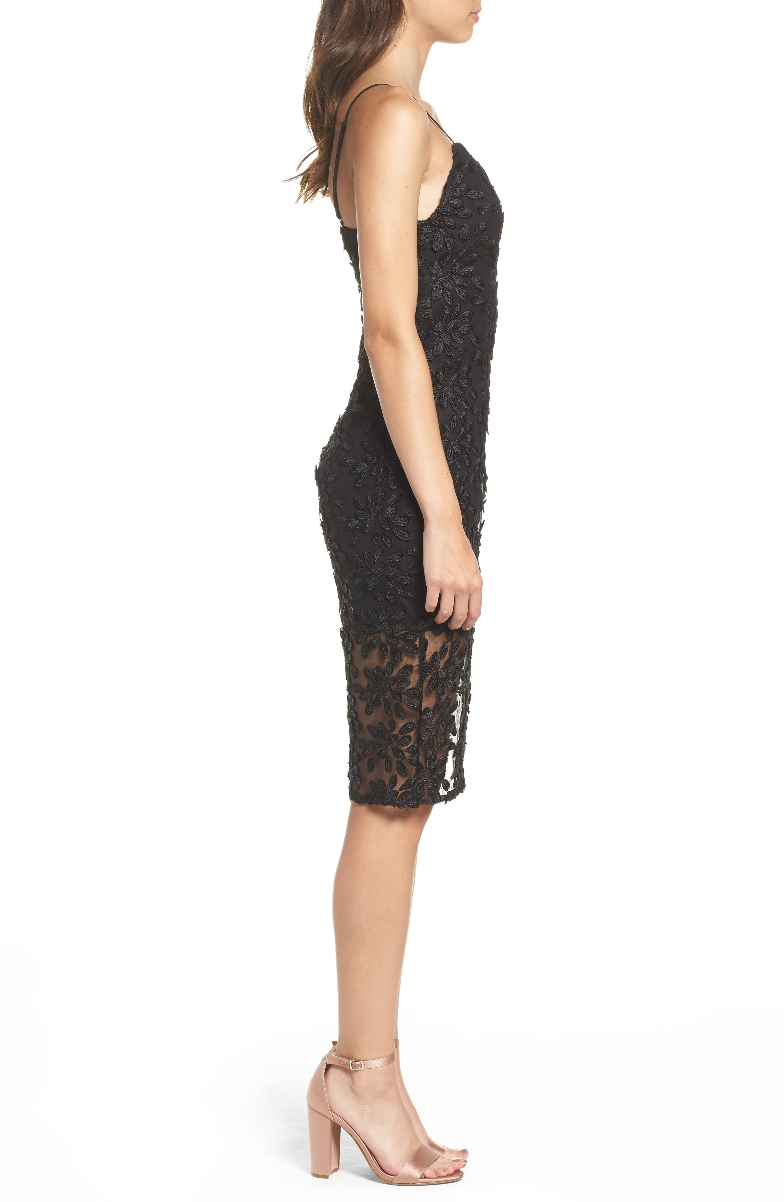 Fiona Lace Dress,                             Alternate thumbnail 3, color,                             001