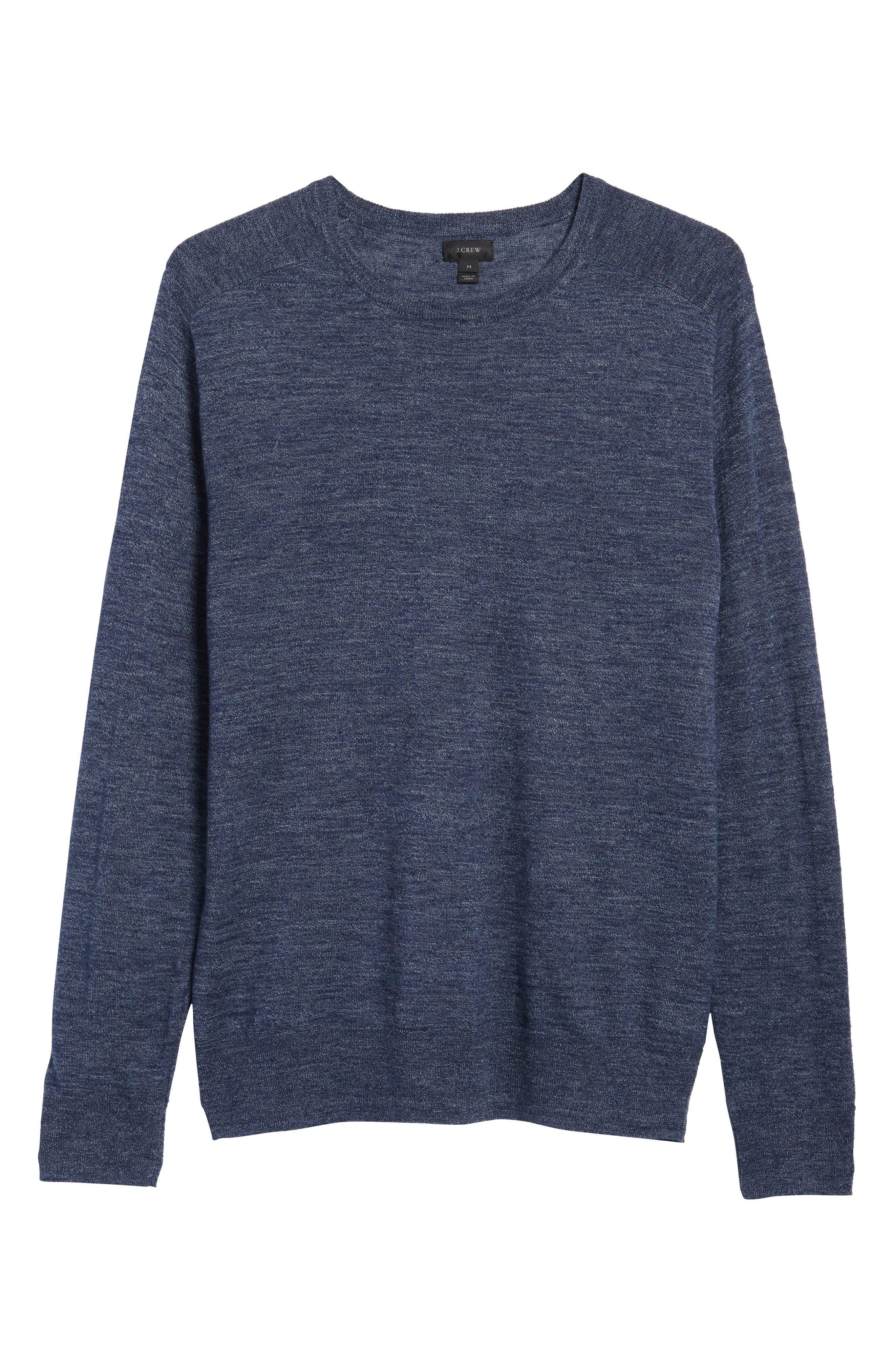 Cotton Blend Crewneck Sweater,                             Alternate thumbnail 23, color,