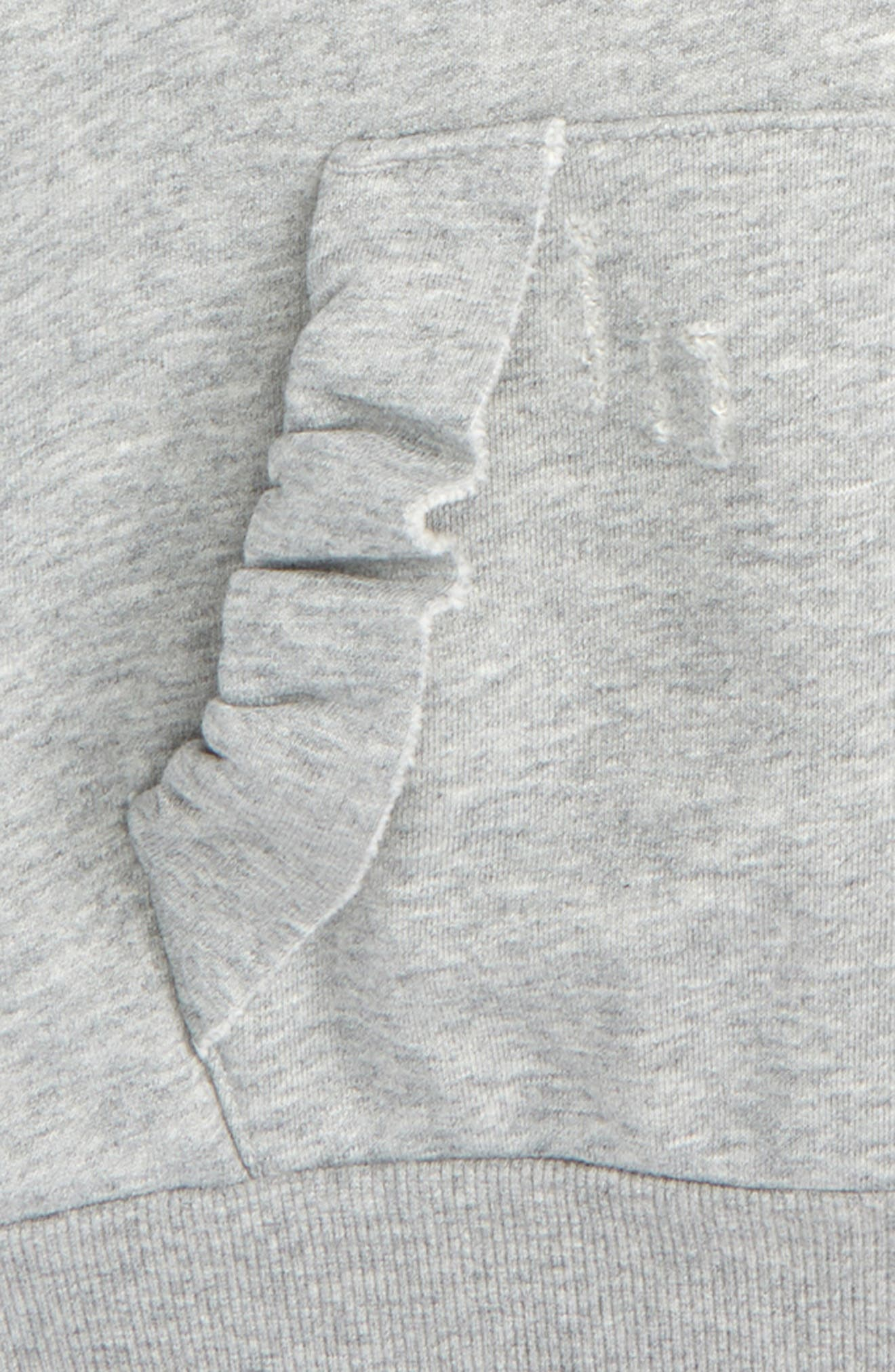 Ruffle Sleeve Hoodie,                             Alternate thumbnail 2, color,                             020