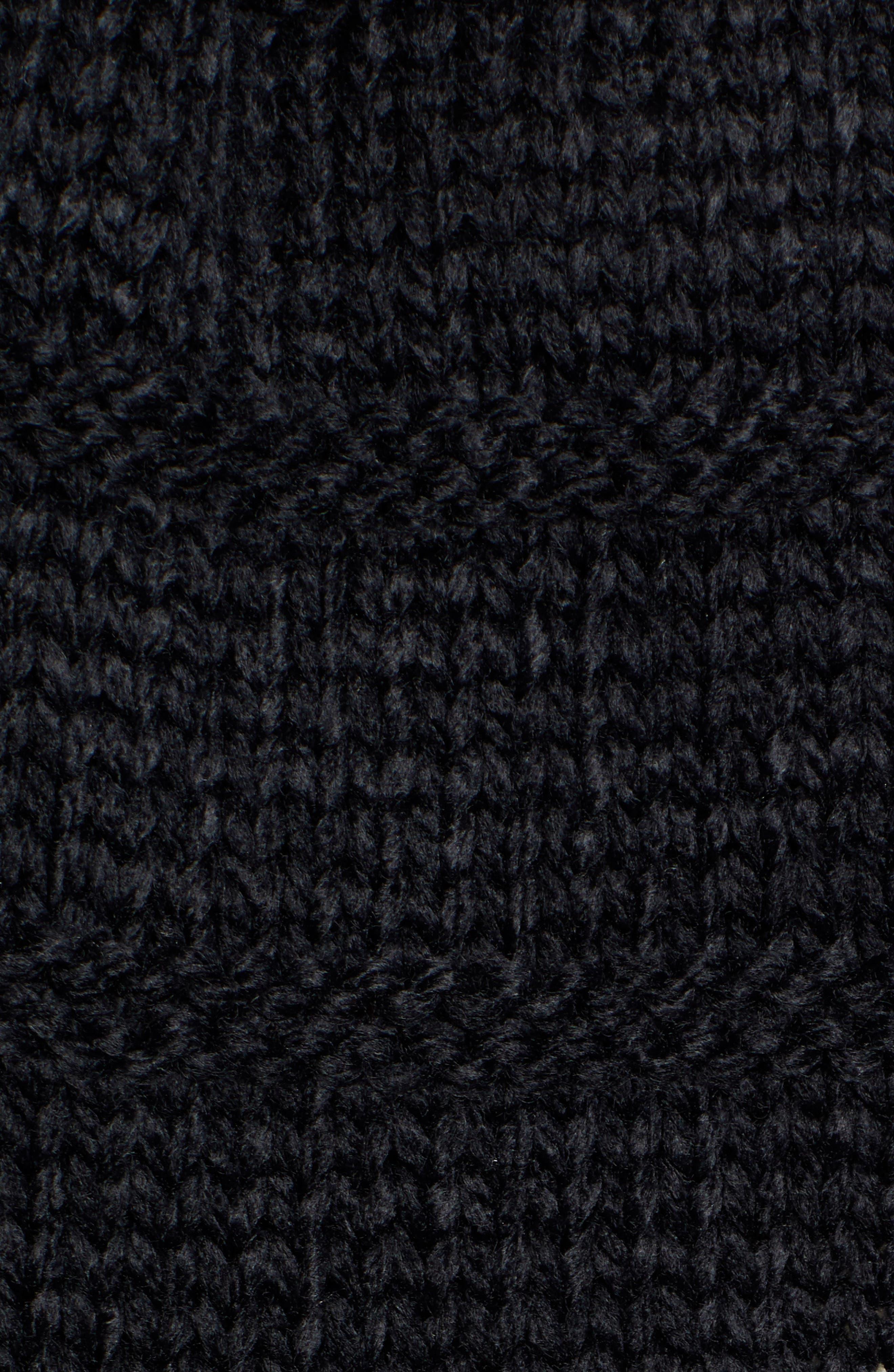 Chunky Cape Scarf,                             Alternate thumbnail 5, color,                             BLACK