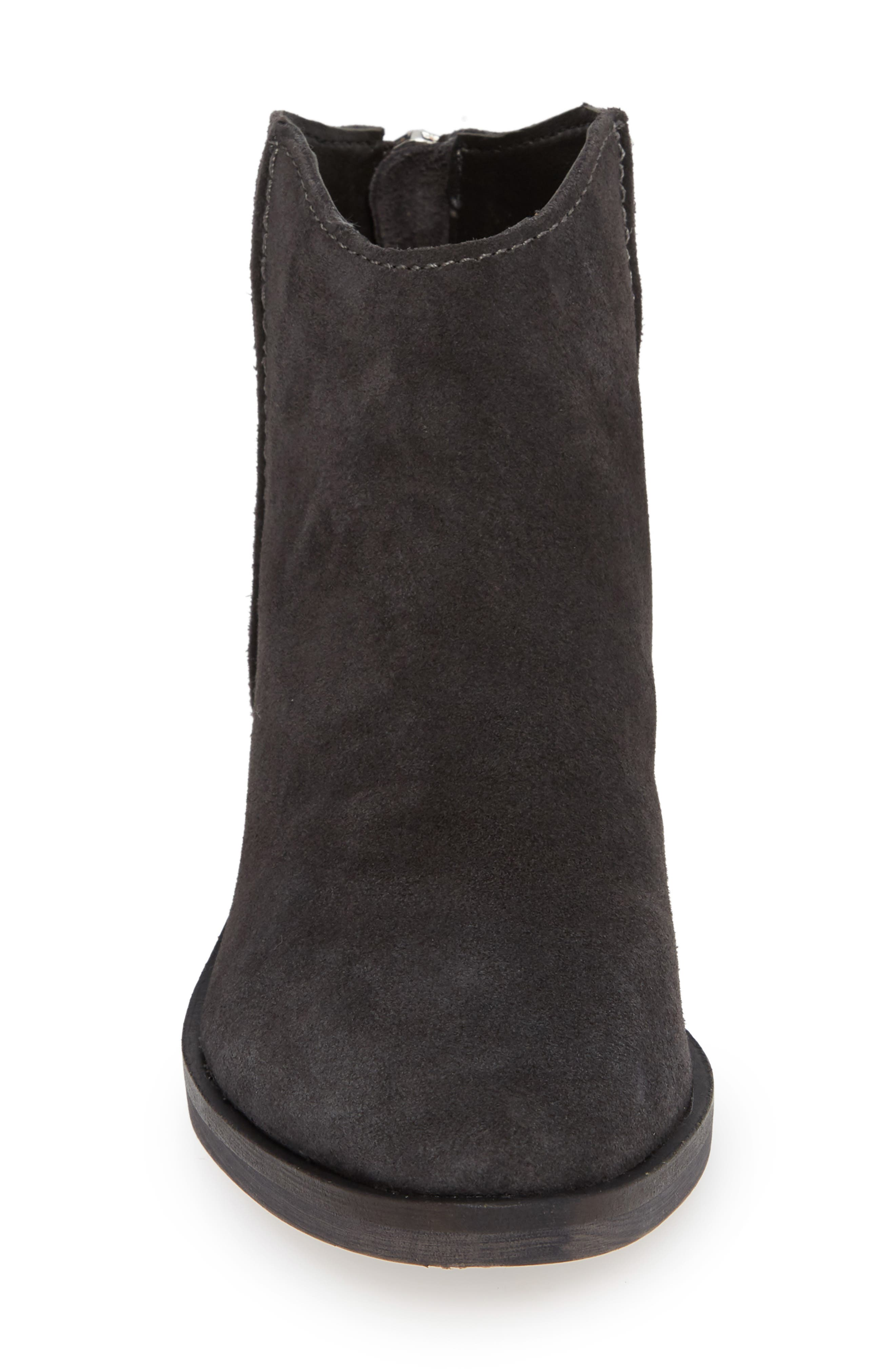 Tucker Bootie,                             Alternate thumbnail 4, color,                             ANTHRACITE SUEDE