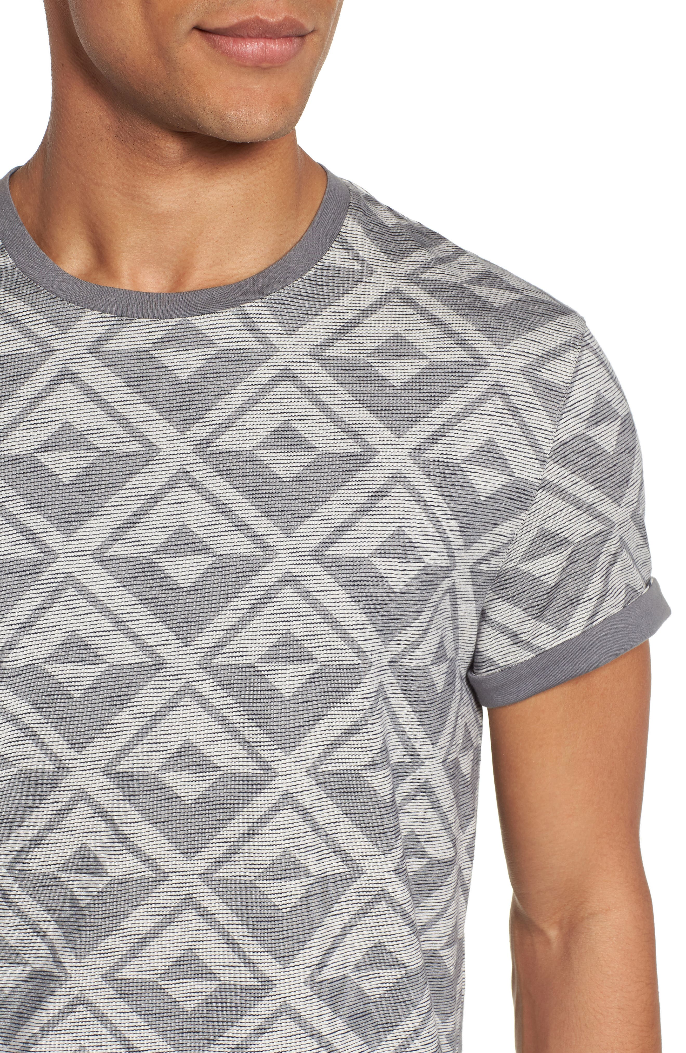 Geometric Crewneck T-Shirt,                             Alternate thumbnail 4, color,                             021