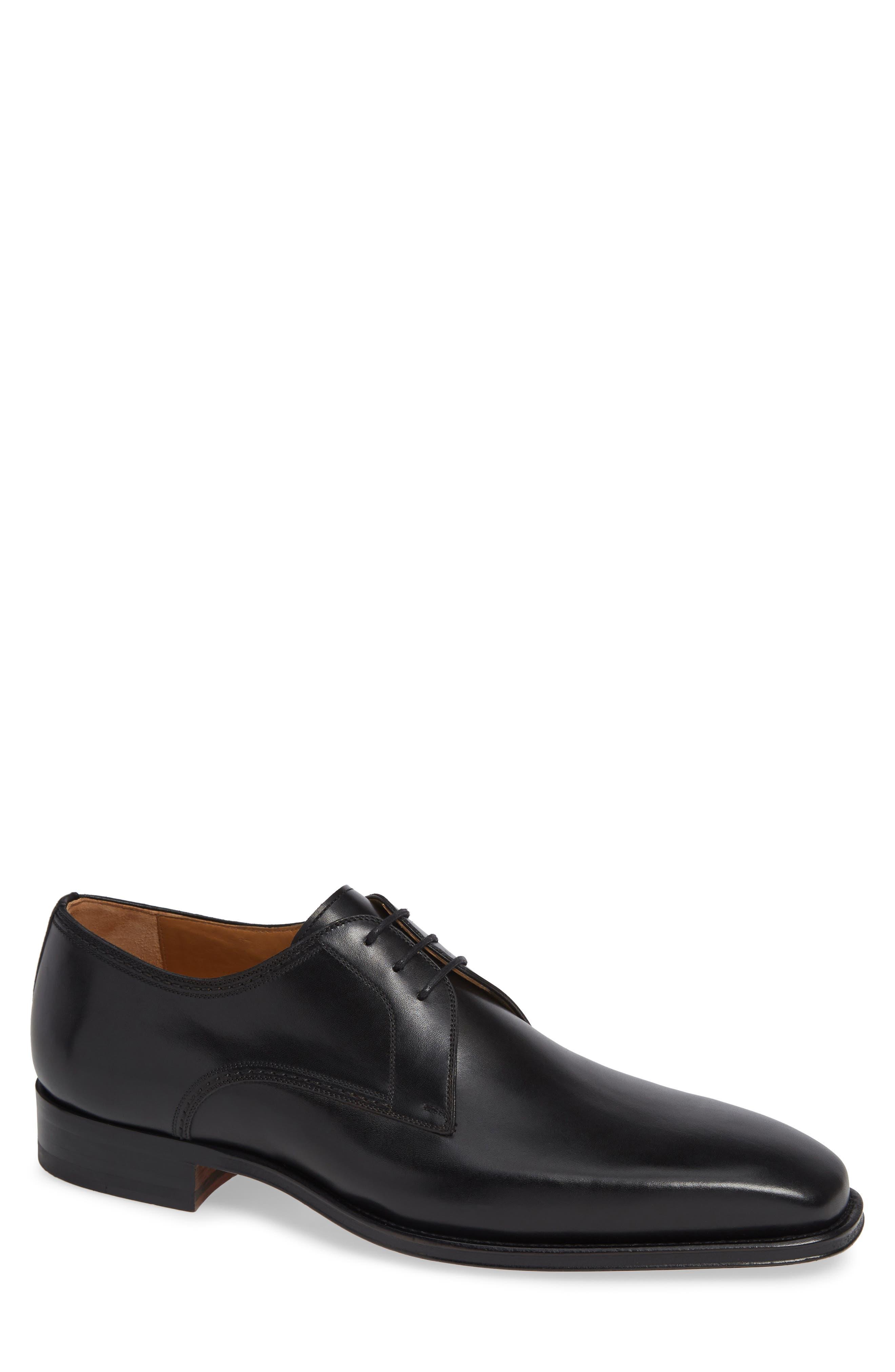 Layton Plain Toe Derby,                             Main thumbnail 1, color,                             BLACK LEATHER