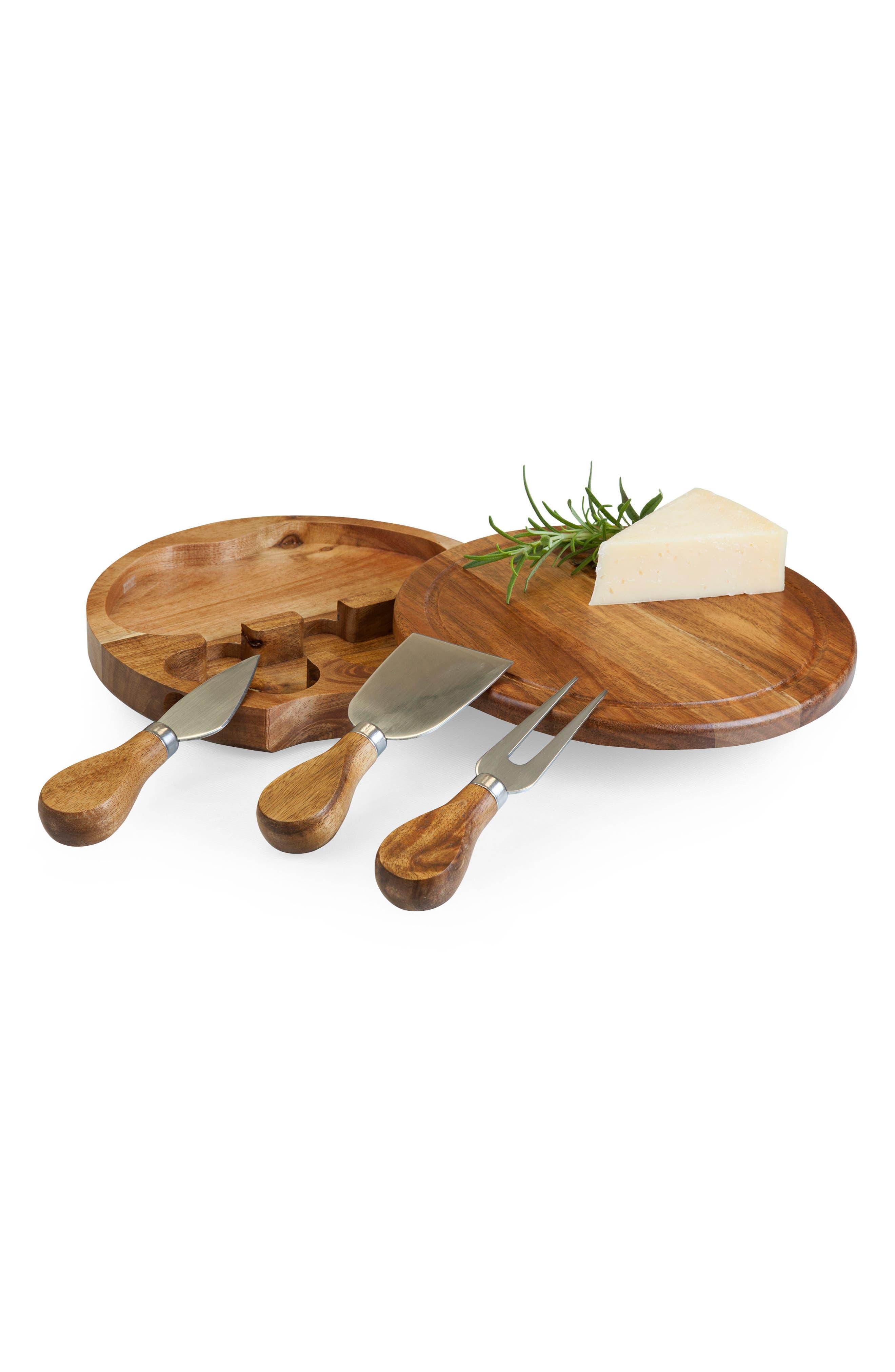 Acacia Cheese Board Set,                             Alternate thumbnail 4, color,                             200