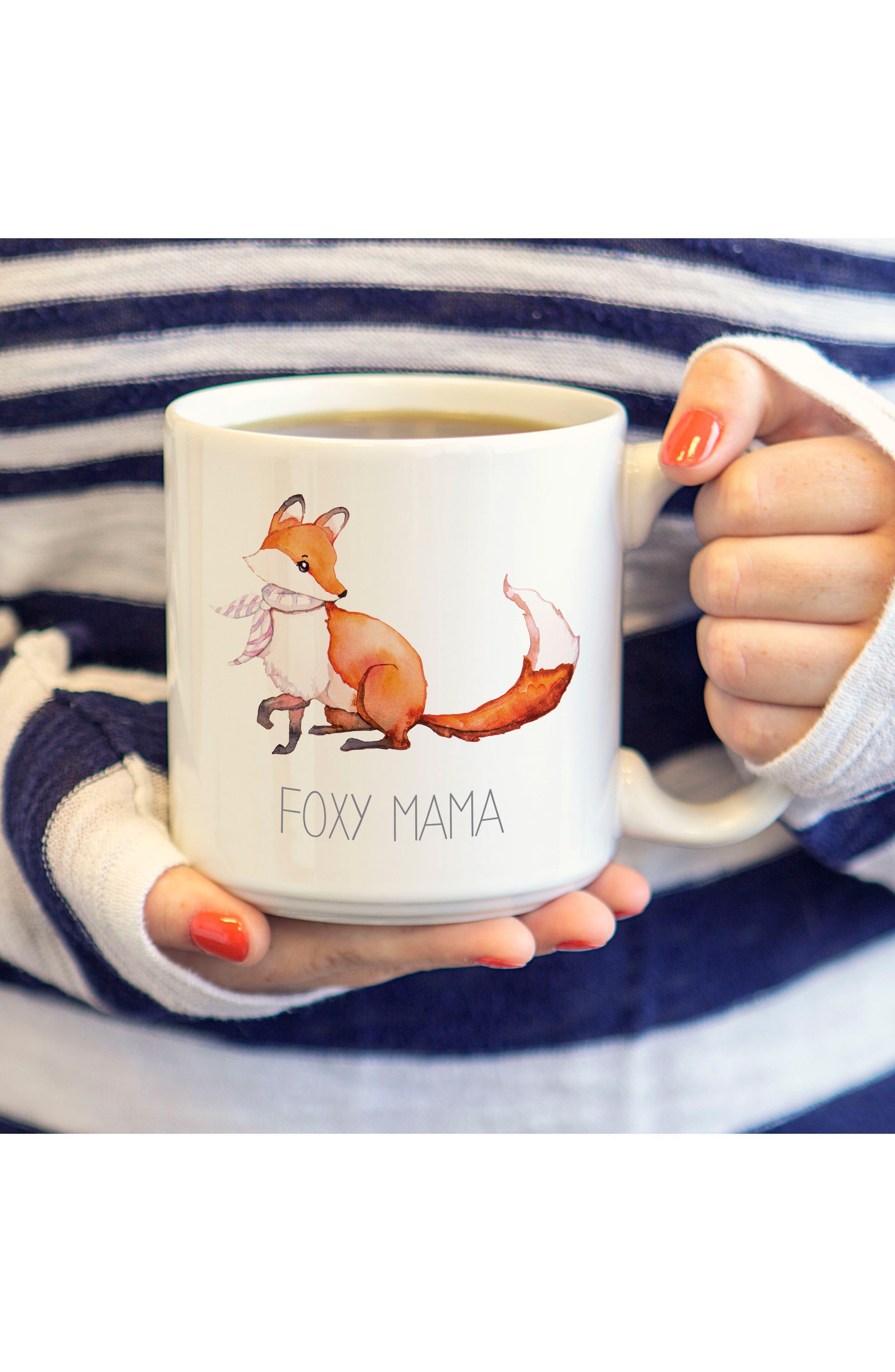 Mom & Dad Fox Set of 2 Coffee Mugs,                             Alternate thumbnail 5, color,                             100