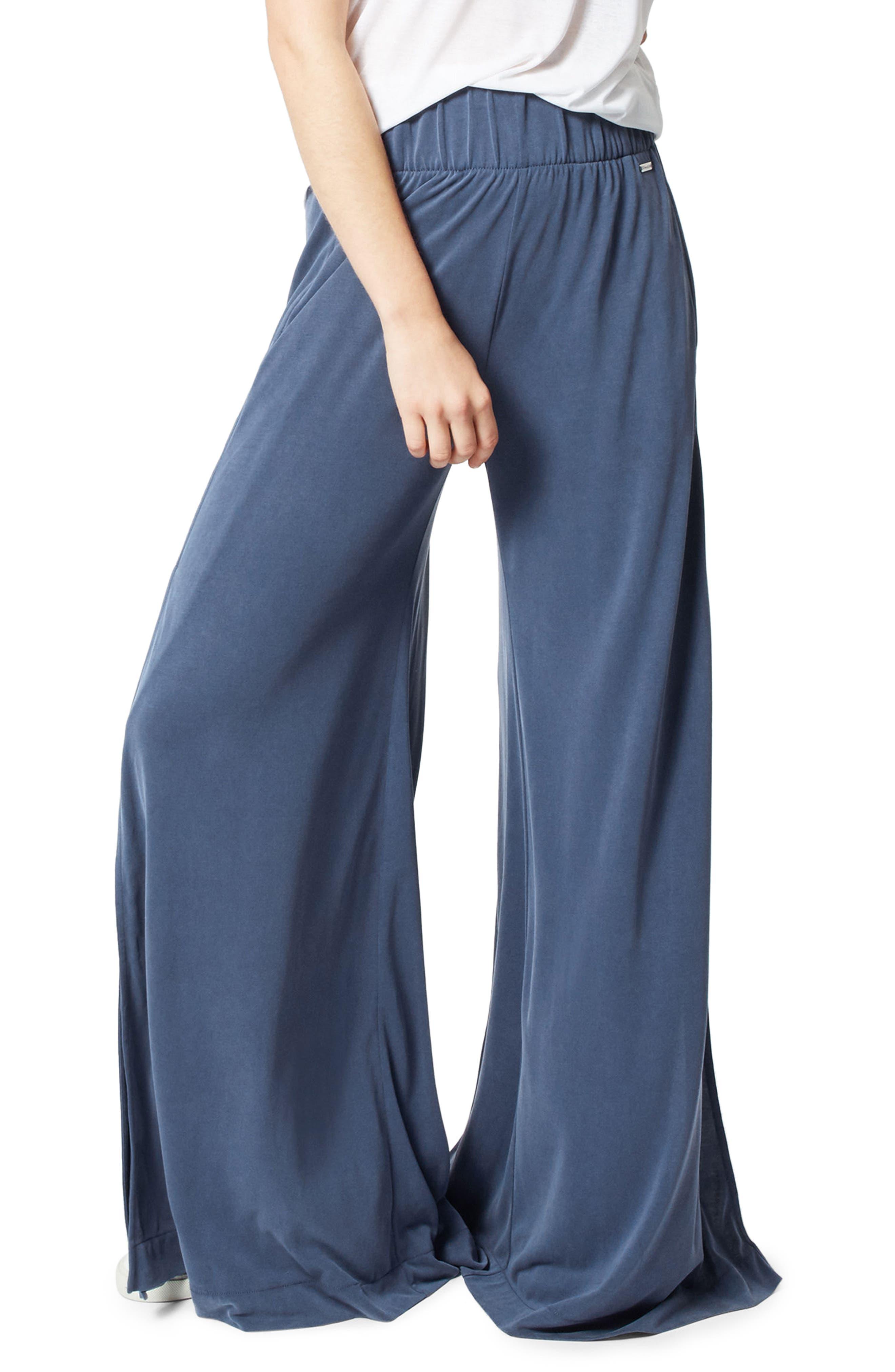 Peaceful Split Wide Leg Pants,                         Main,                         color, 400
