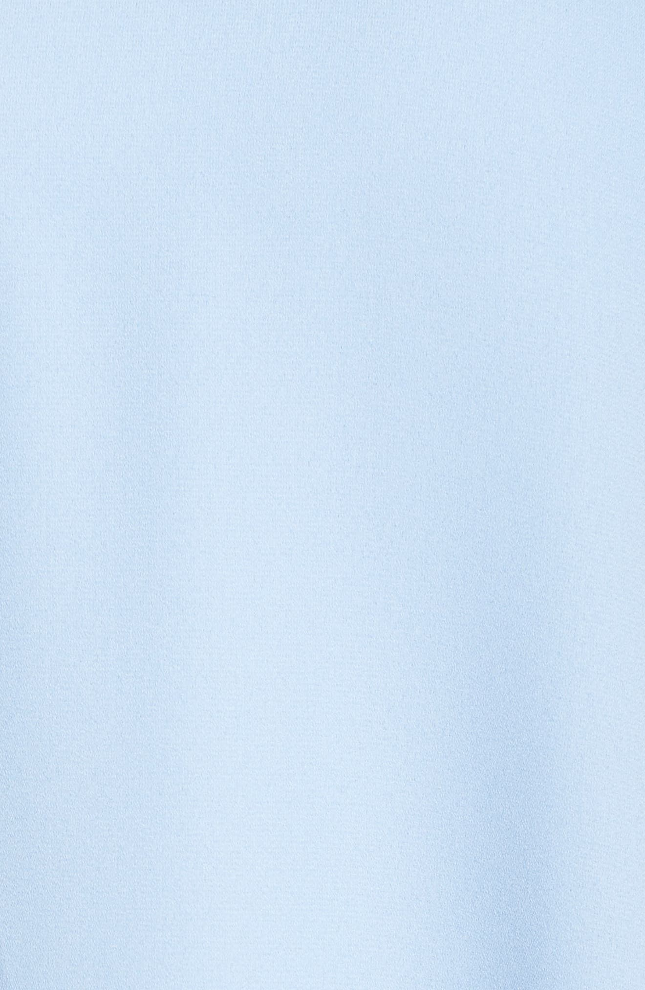 Moss Crepe Roll Neck Ruffle Dress,                             Alternate thumbnail 5, color,
