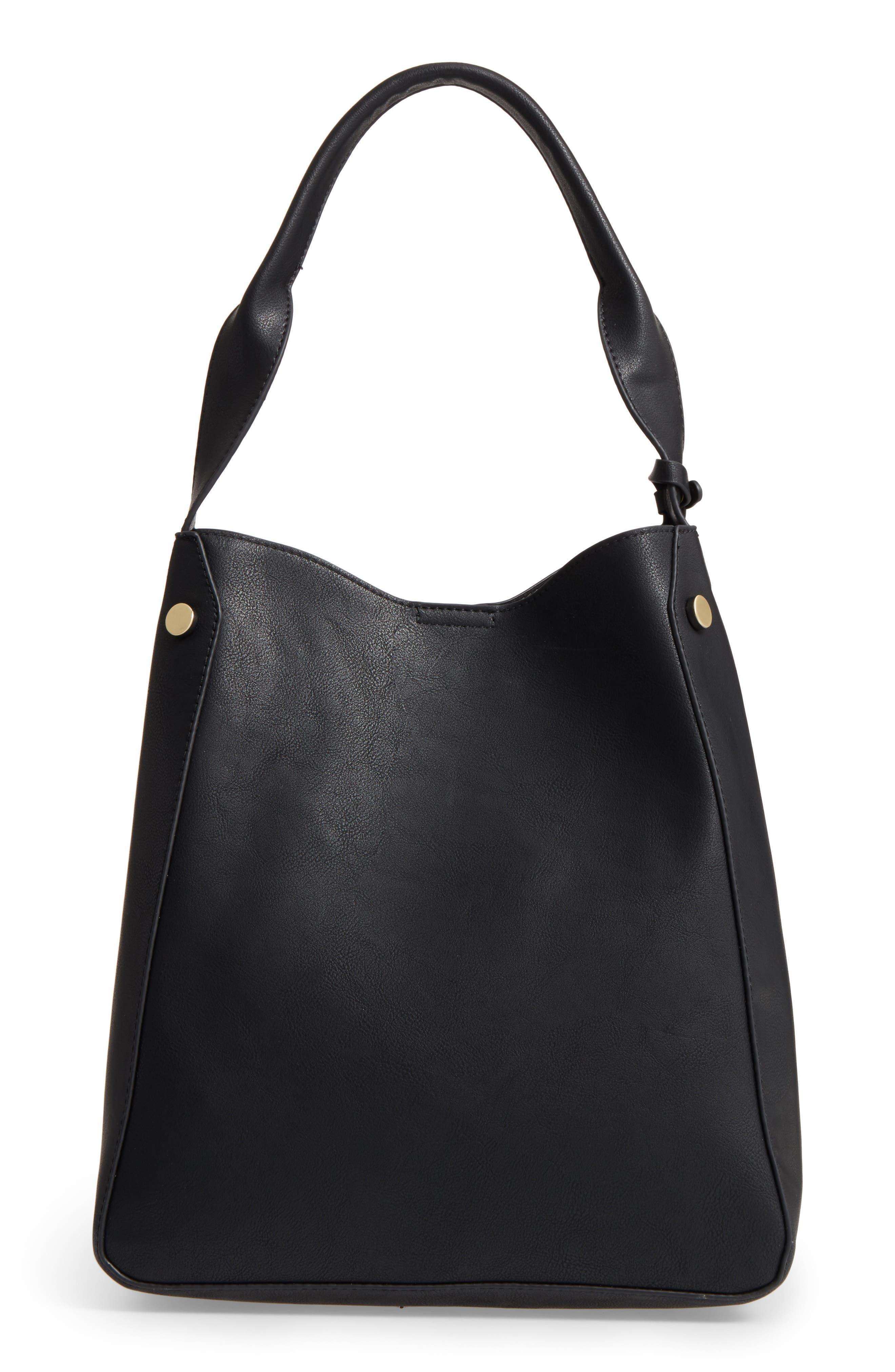 Alani Faux Leather Shoulder Bag,                             Main thumbnail 1, color,