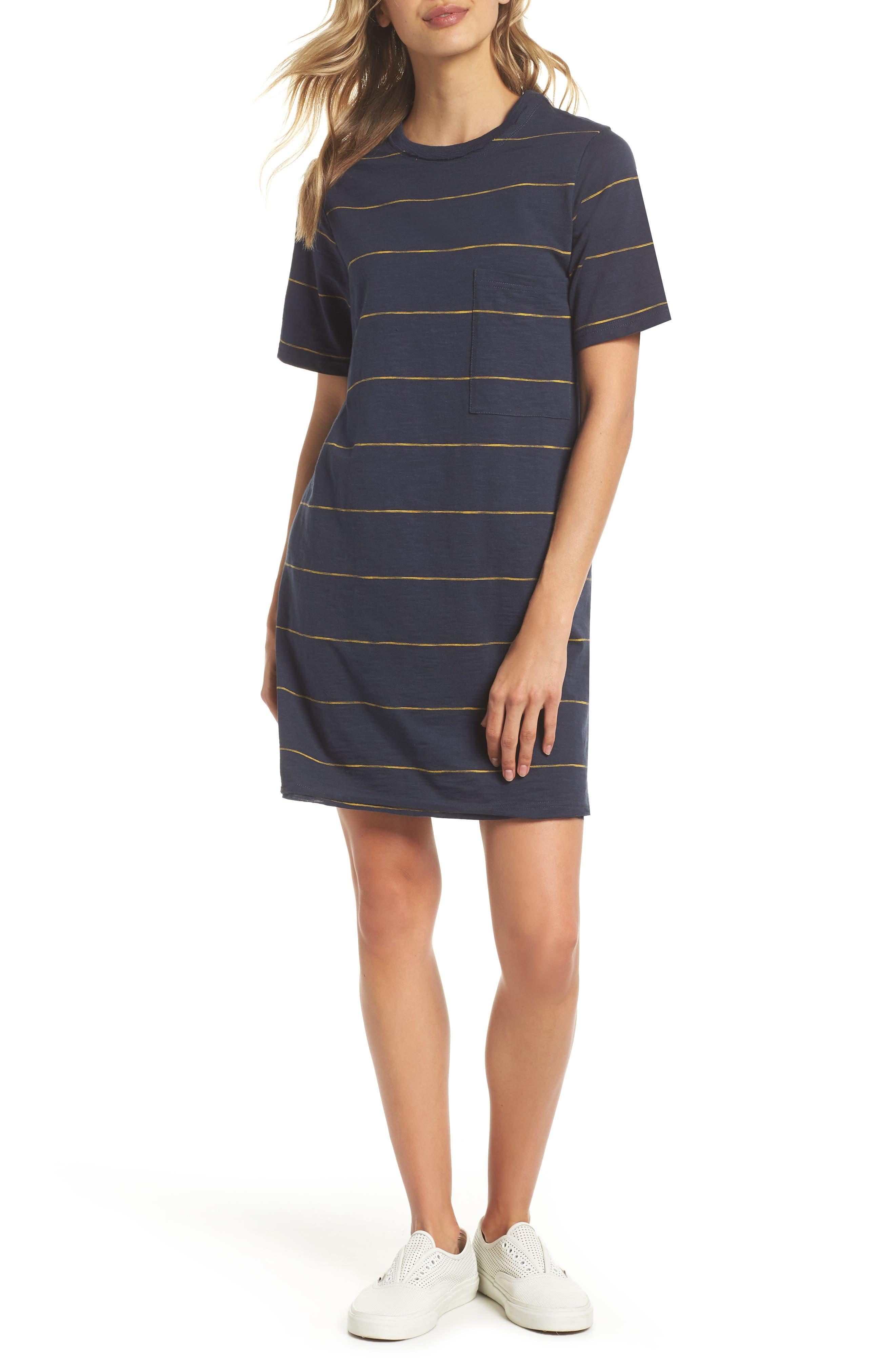 Sunset Stripe T-Shirt Dress,                         Main,                         color,