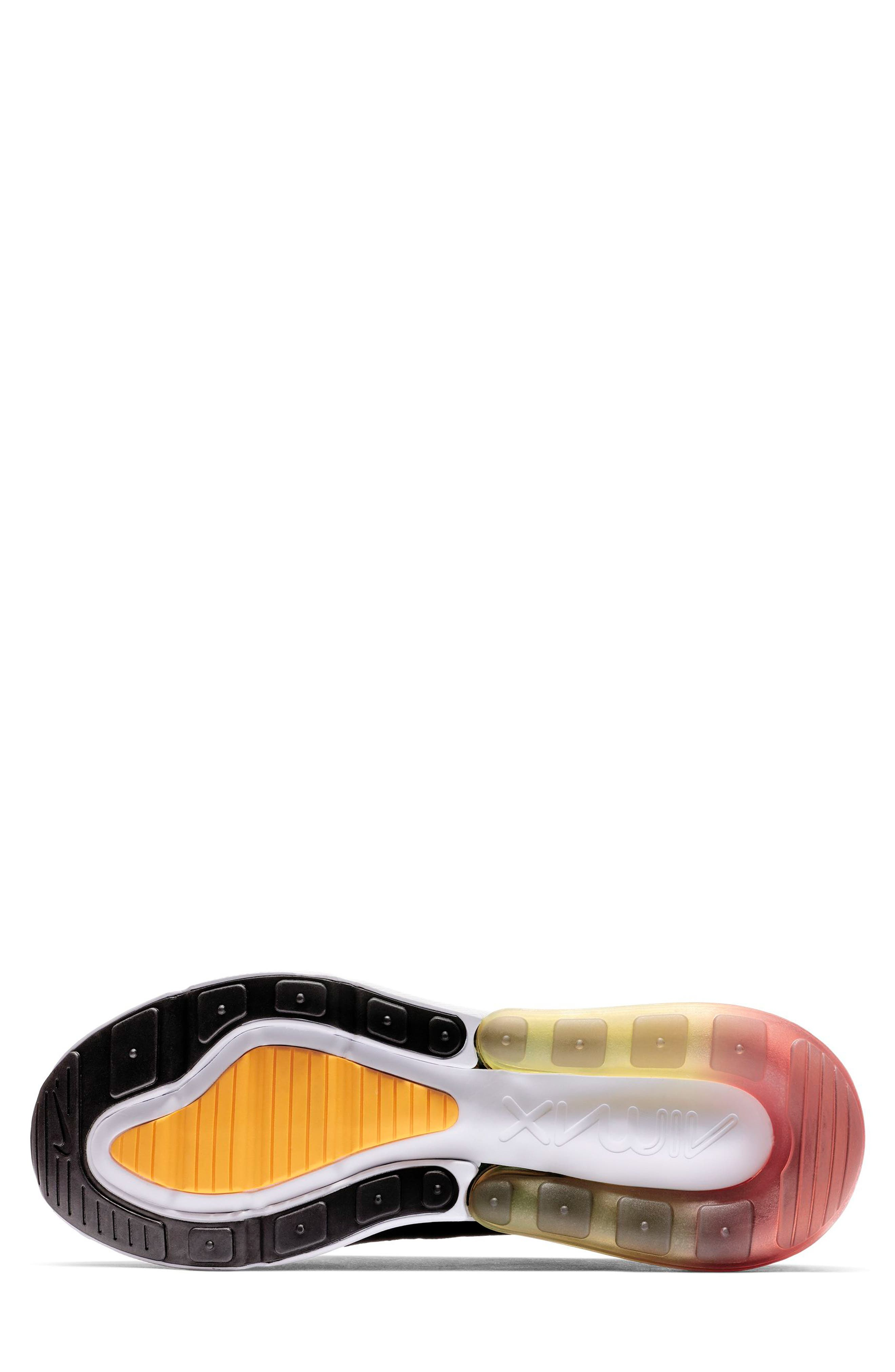 NIKE,                             Air Max 270 SE Sneaker,                             Alternate thumbnail 5, color,                             BLACK/ ORANGE/ EMBER GLOW