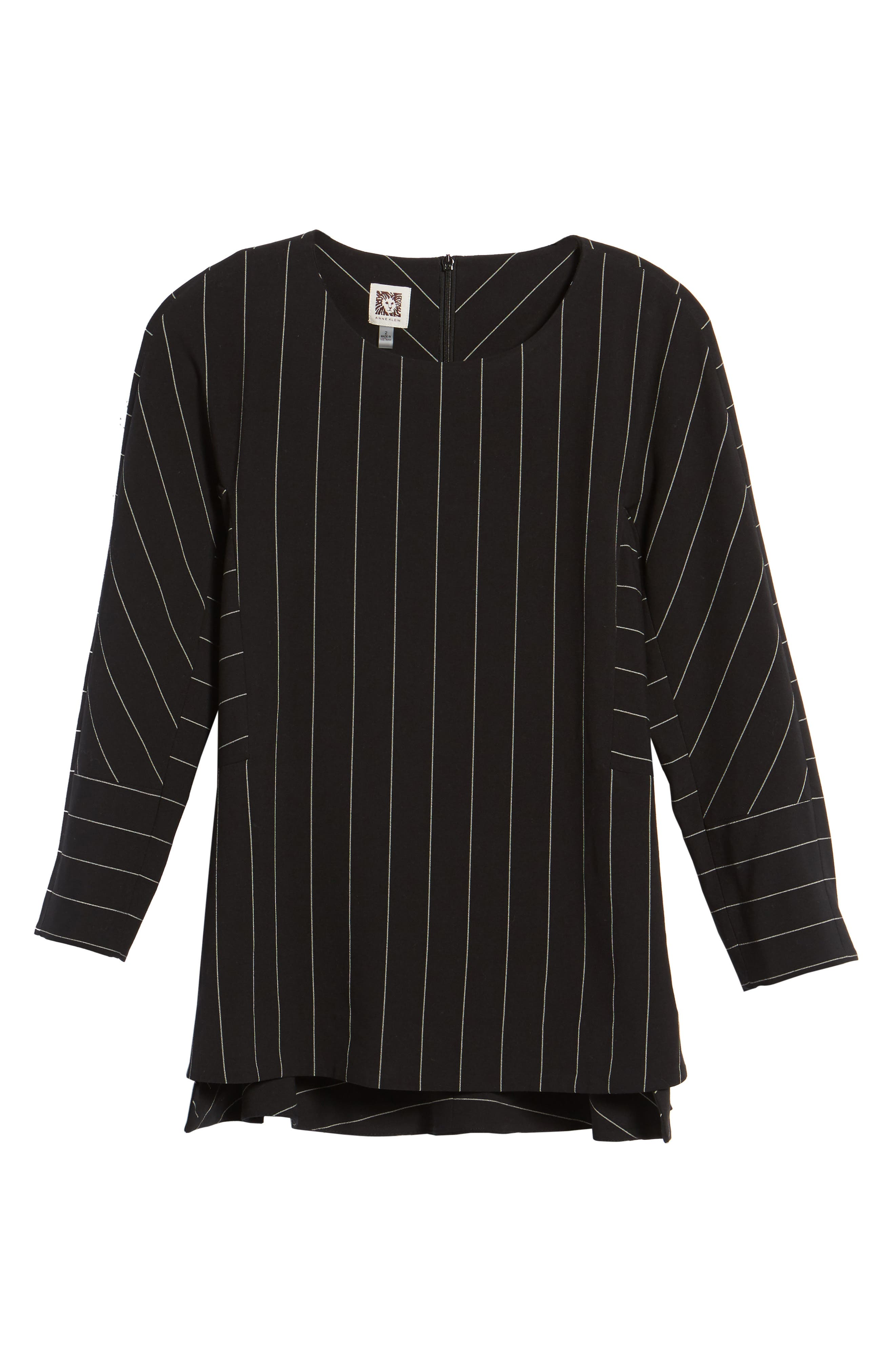 Pinstripe Blouse,                             Alternate thumbnail 6, color,                             001