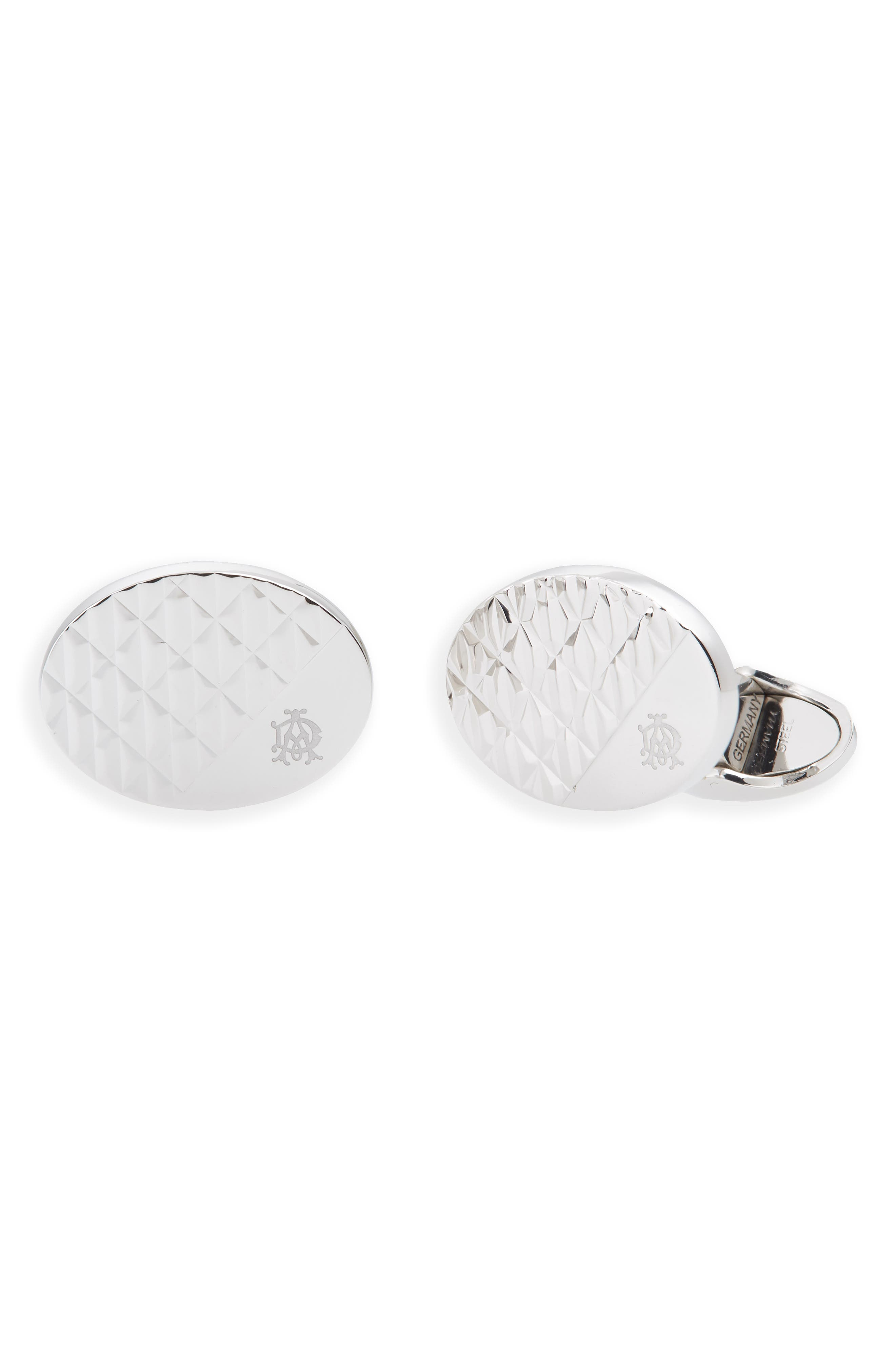 Modernist Cuff Links,                             Main thumbnail 1, color,                             SILVER