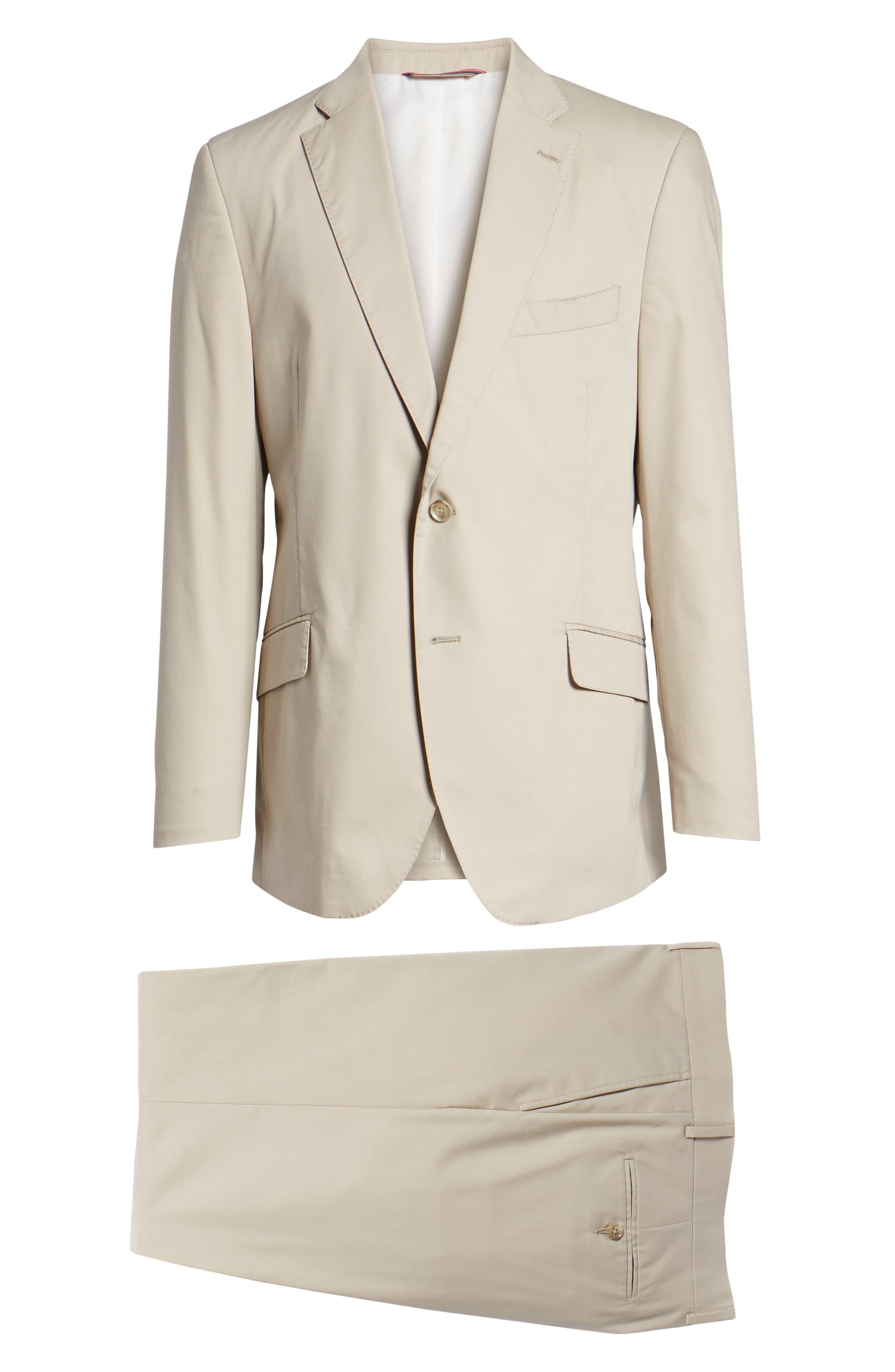 Irons AIM Classic Fit Solid Cotton Blend Suit,                             Alternate thumbnail 8, color,                             BEIGE