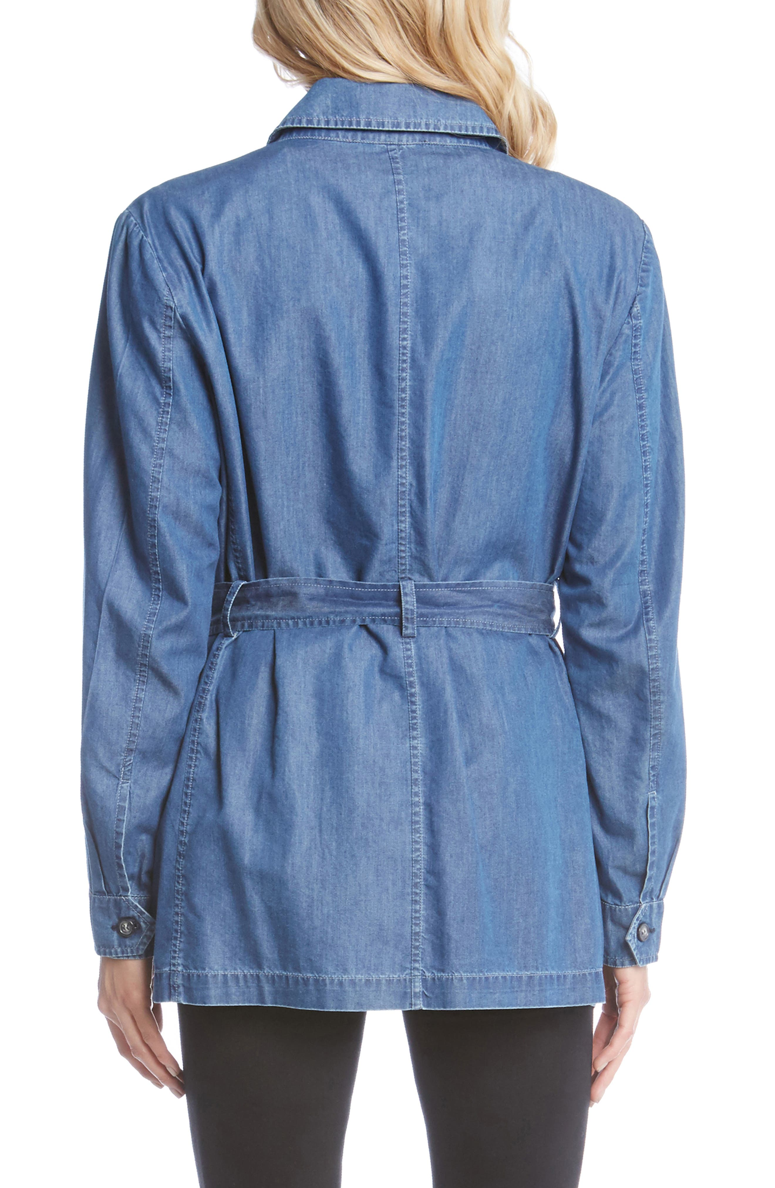 Belted Chambray Cargo Jacket,                             Alternate thumbnail 2, color,                             455