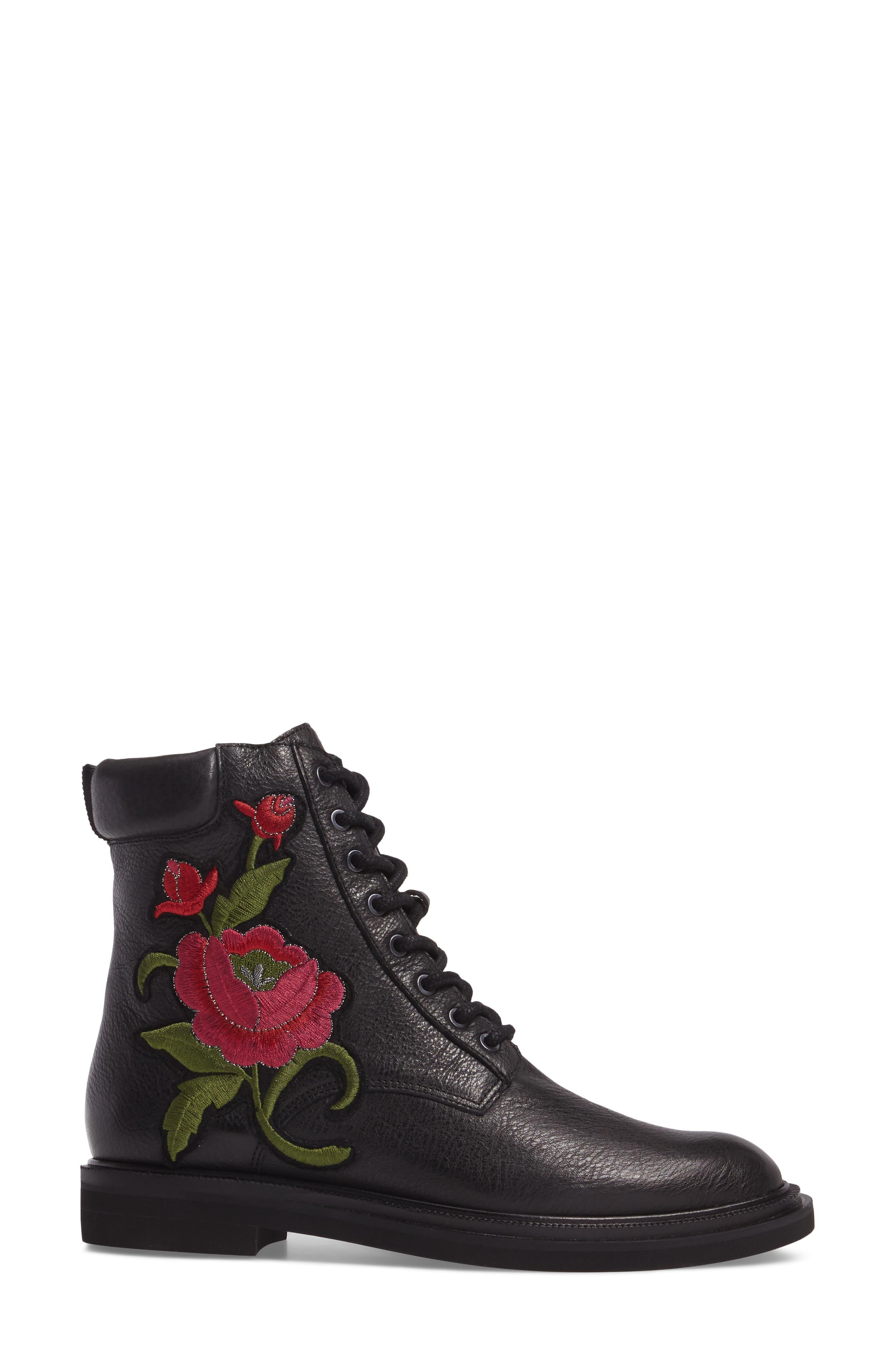 Ashton 2 Embroidered Boot,                             Alternate thumbnail 3, color,                             001