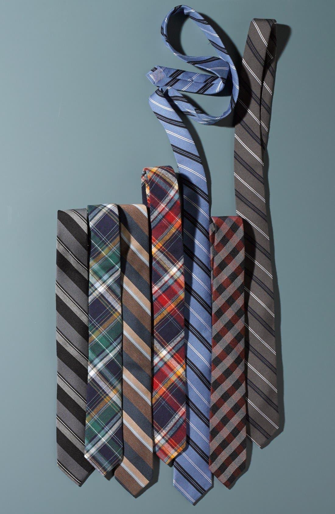 'Browne' Woven Wool & Silk Tie,                             Alternate thumbnail 4, color,