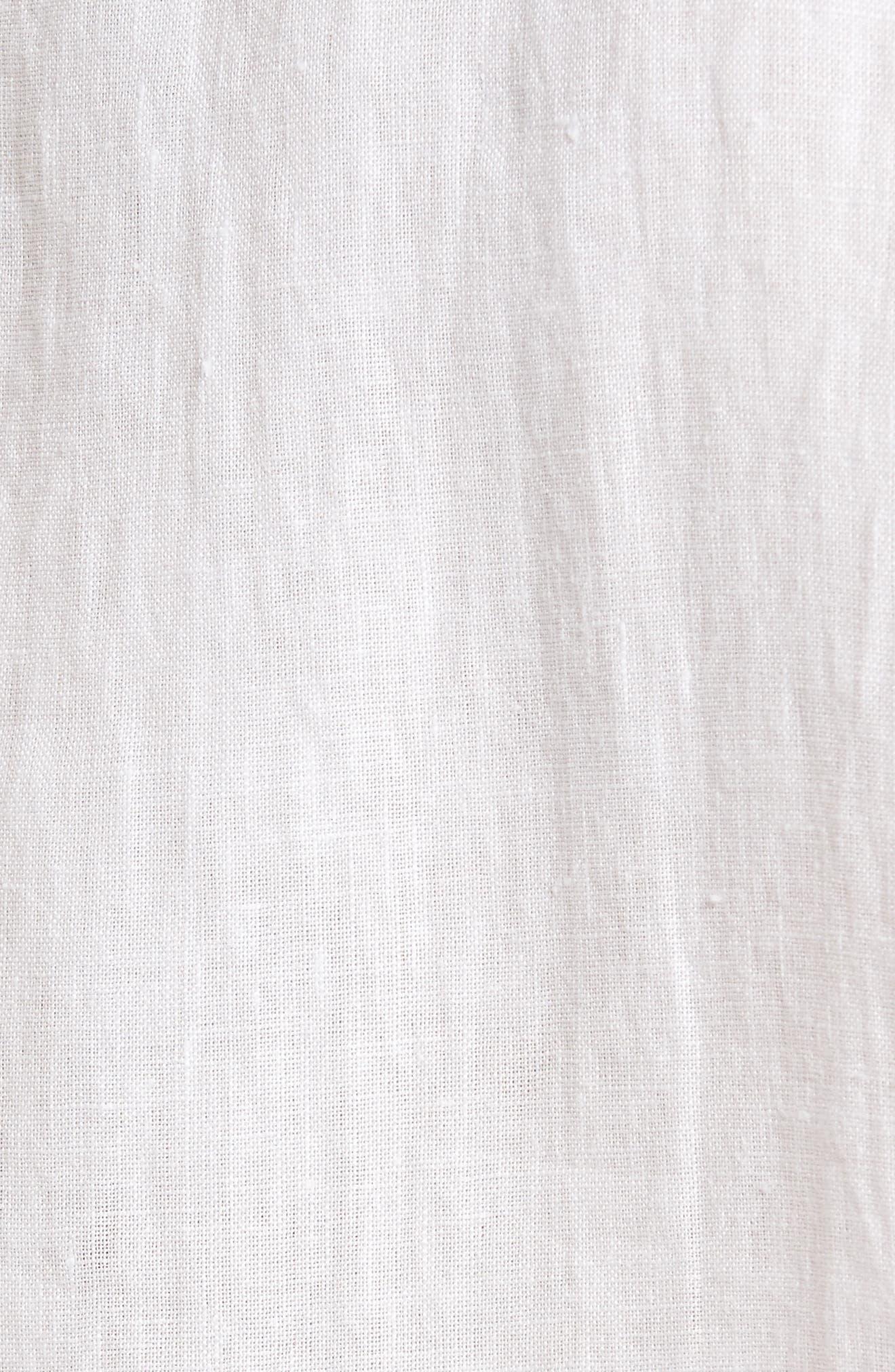 Abbotleight Linen Sport Shirt,                             Alternate thumbnail 5, color,                             SNOW
