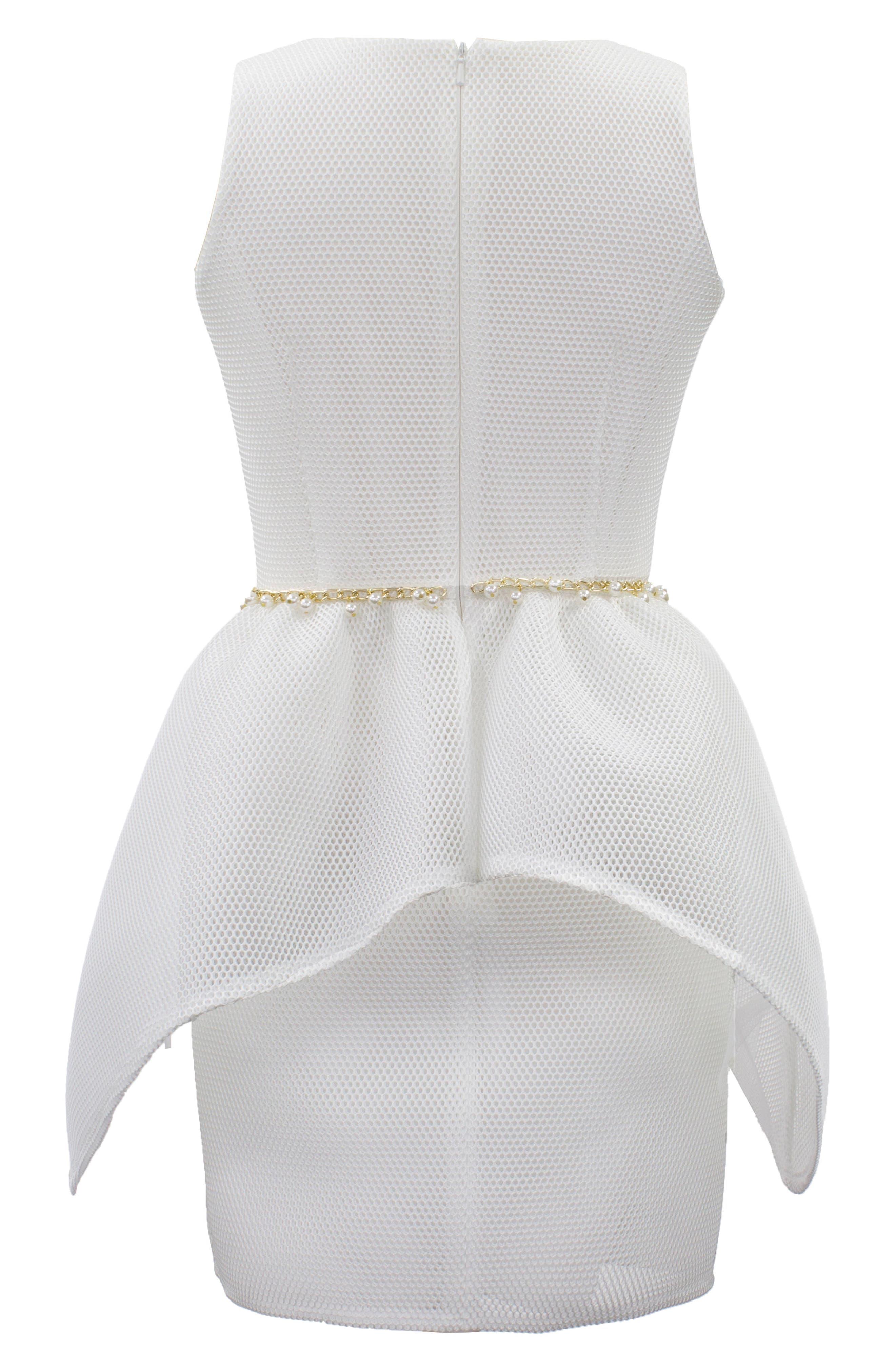 Embellished Mesh Dress,                             Alternate thumbnail 2, color,                             900