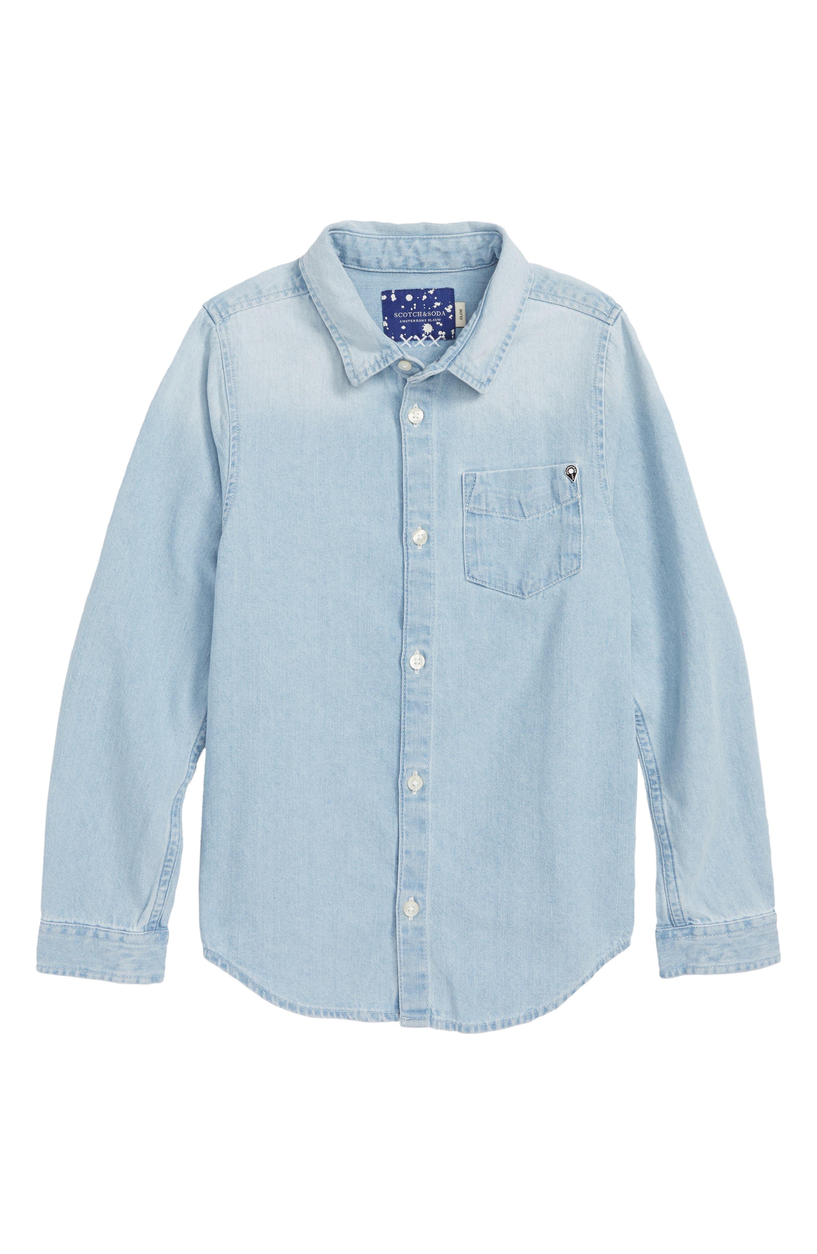 Chambray Shirt,                         Main,                         color, 450