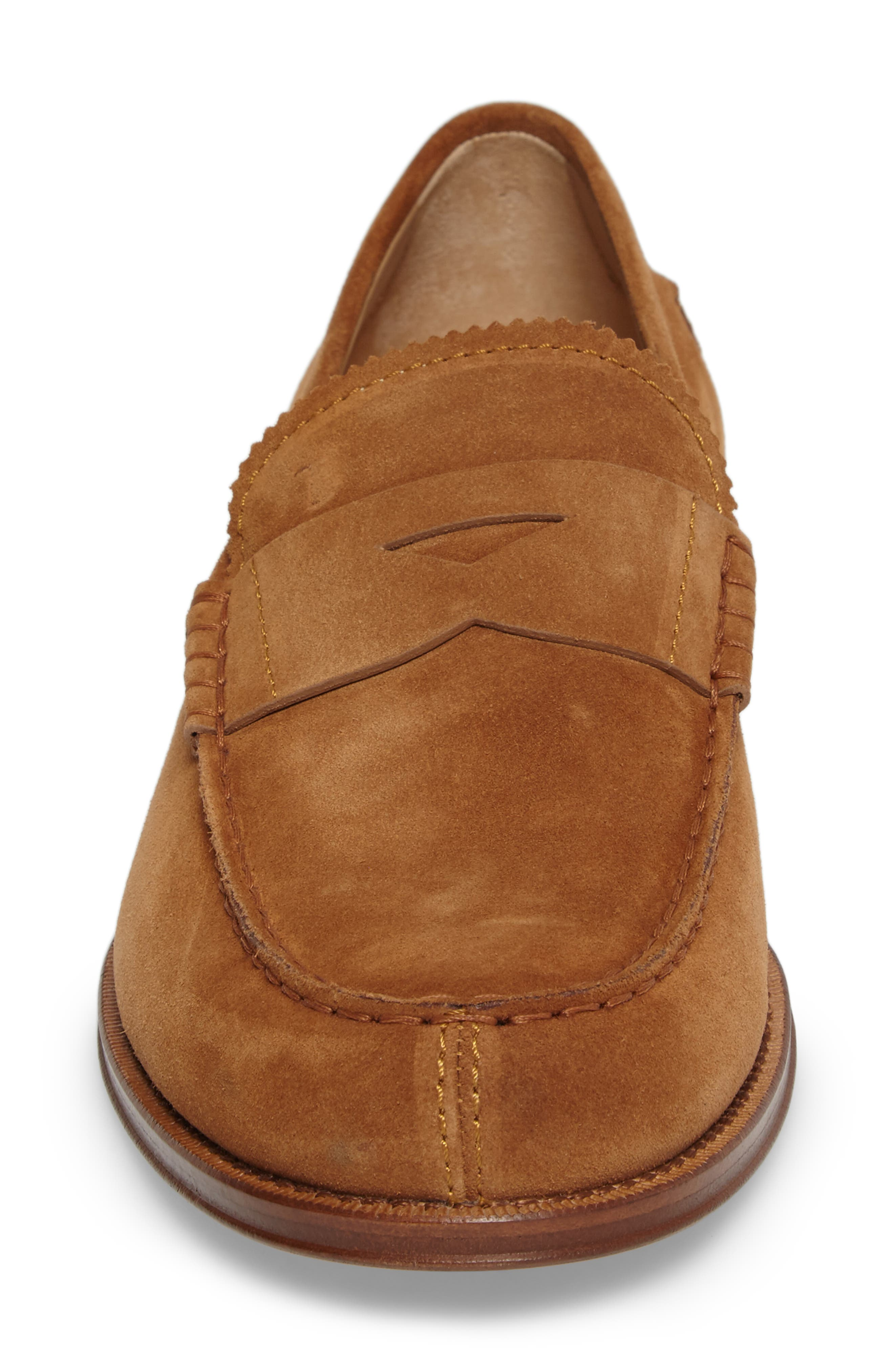 Suede Penny Loafer,                             Alternate thumbnail 4, color,                             215